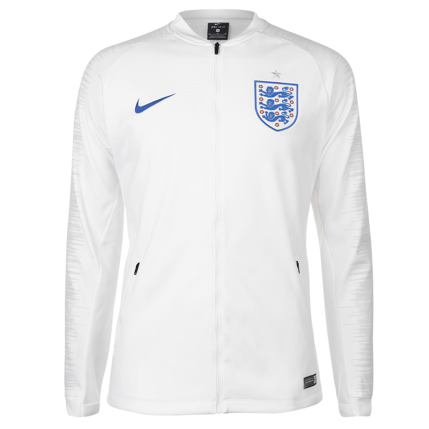 Nike England Anthem Jacket Mens White Football Soccer Tracksuit Track Top 28e7c500d36c9
