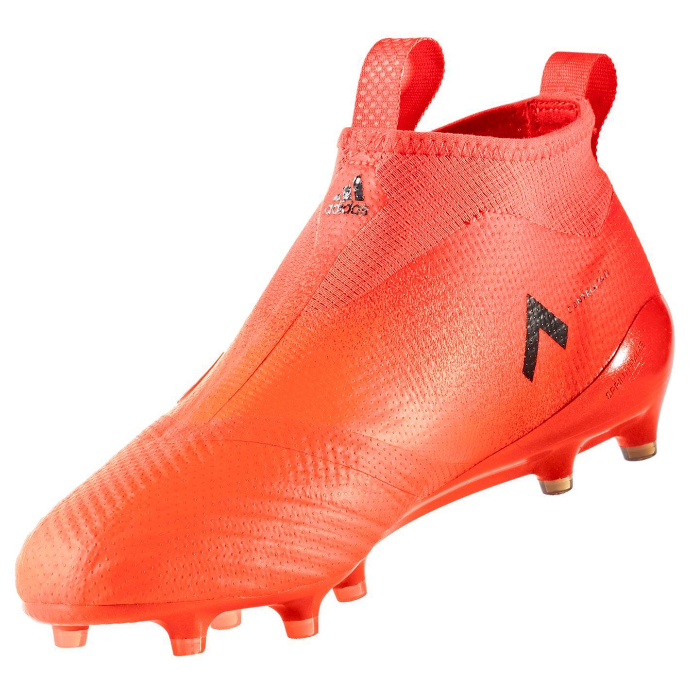 d1da83c78 ... adidas Ace 17 Purecontrol FG Laceless Football Boots Mens Orange Soccer  Cleats ...