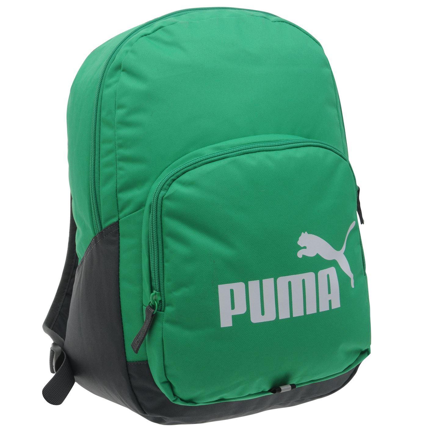 c2eabd4c0 Details about Puma Phase Backpack Green/White Bag Rucksack Holdall Carryall
