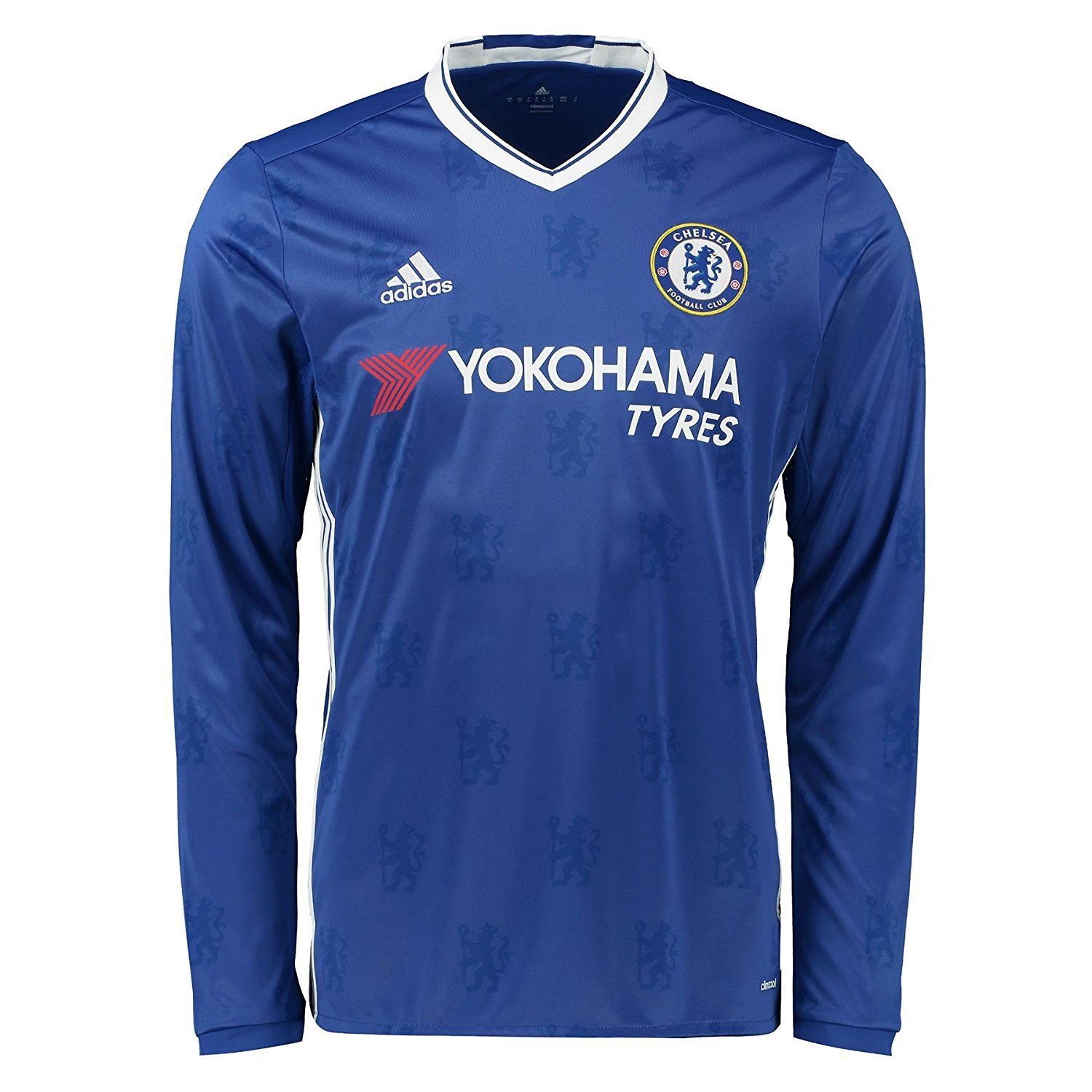 super popular b8c8d 01e29 Details about adidas Chelsea 2016 2017 Home Jersey Long Sleeve Juniors Blue  Football Soccer