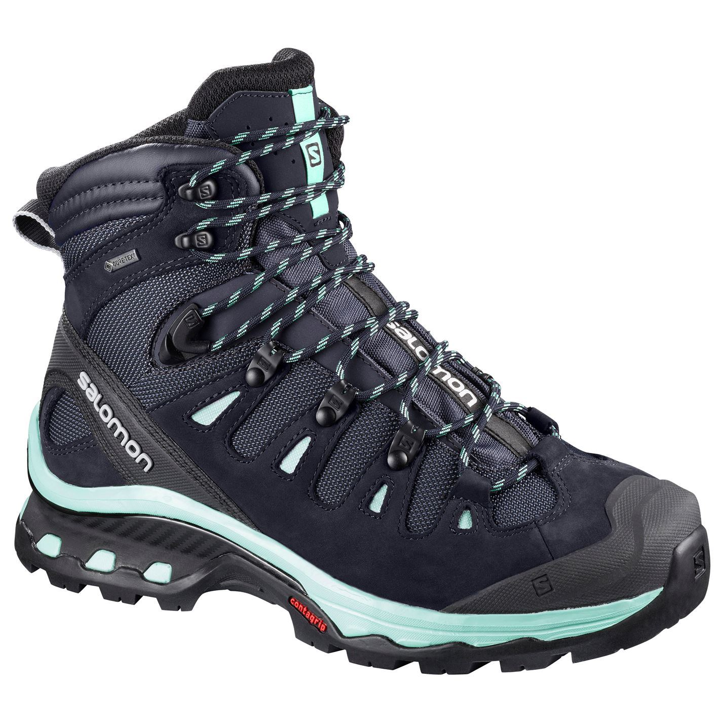 247bceb3 Details about Salomon Quest 4D 3 GTX Walking Boots Womens Blue Hiking  Trekking Shoes Footwear