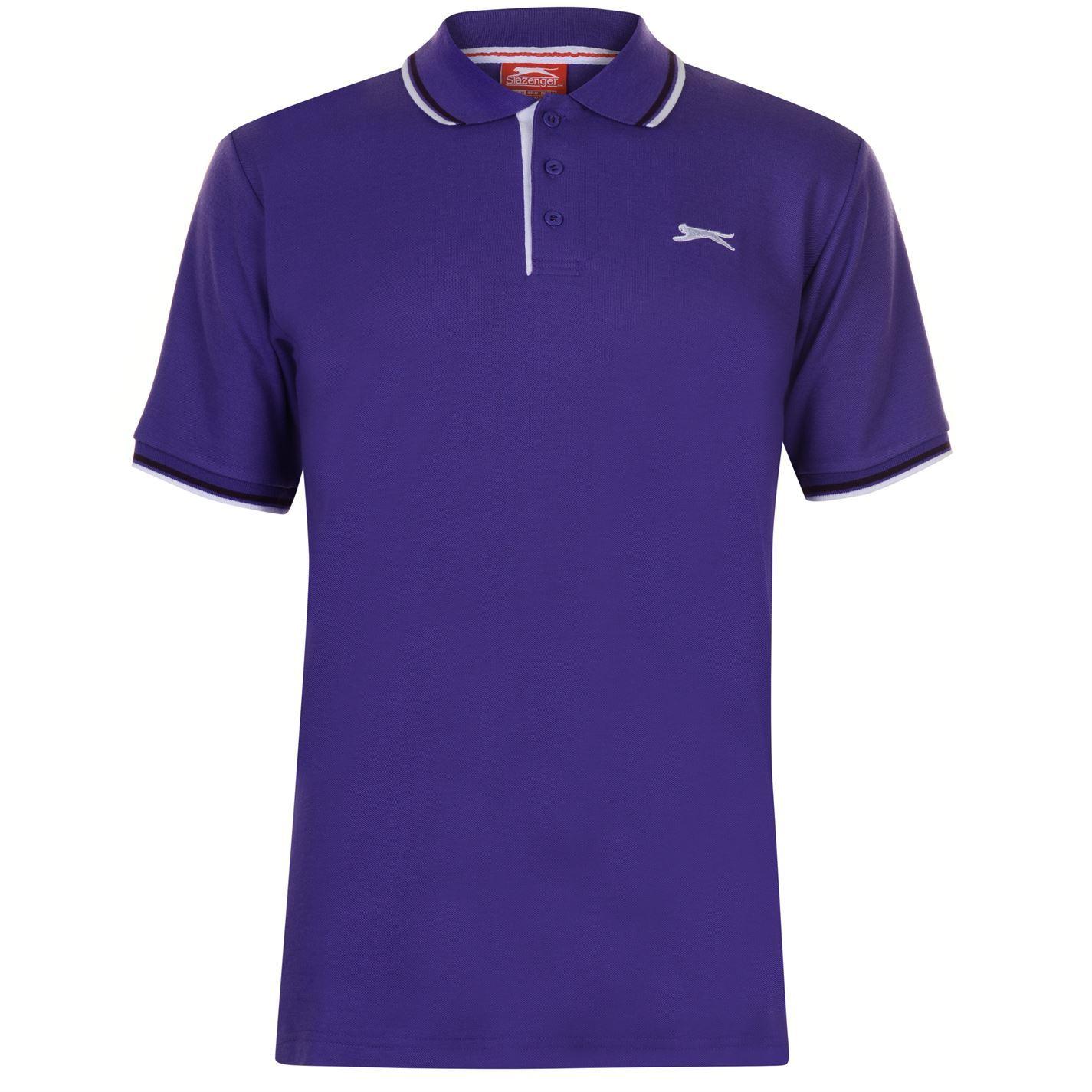 Slazenger-Polo-Camisa-de-hombre-con-cuello-con-Punta-T-Shirt-Top-Camiseta-Tee miniatura 64