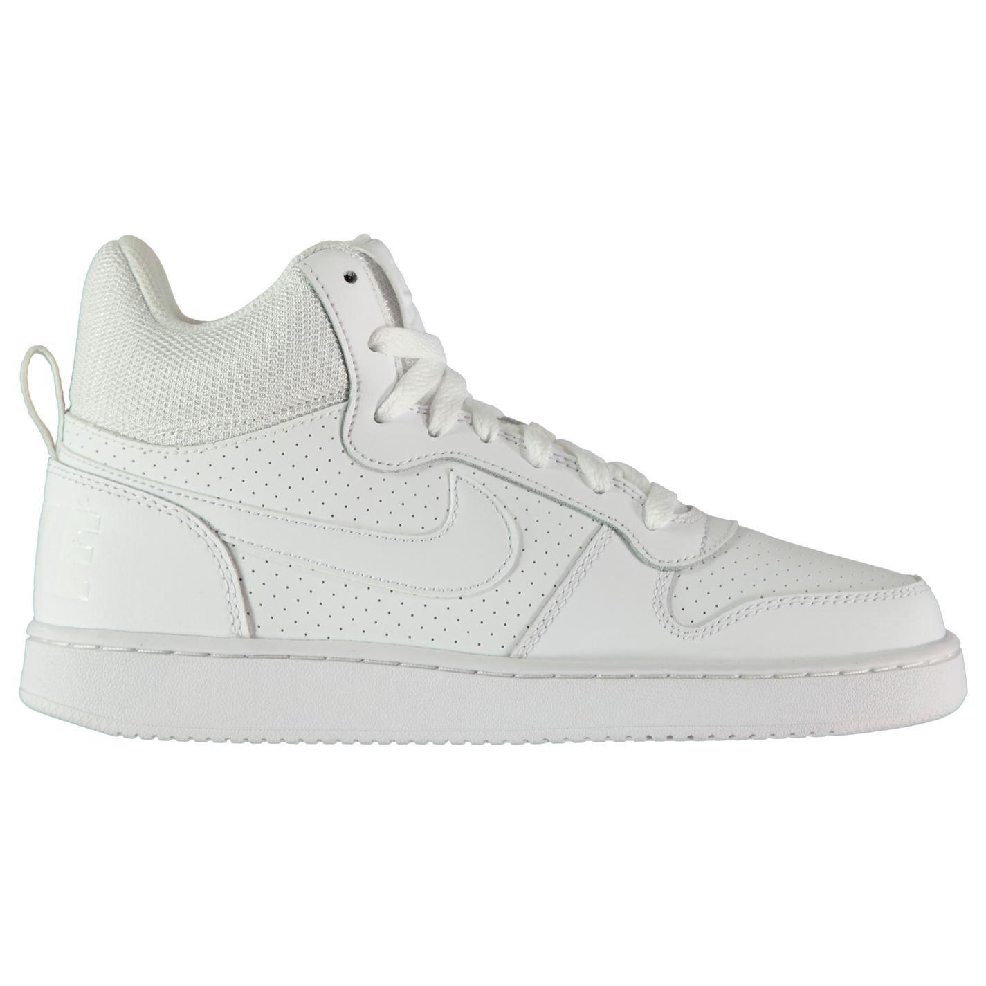 mujer deporte Borough para altas Mid de White Nike deportivas Court Zapatillas blancas Zapatillas qI4UOwxn