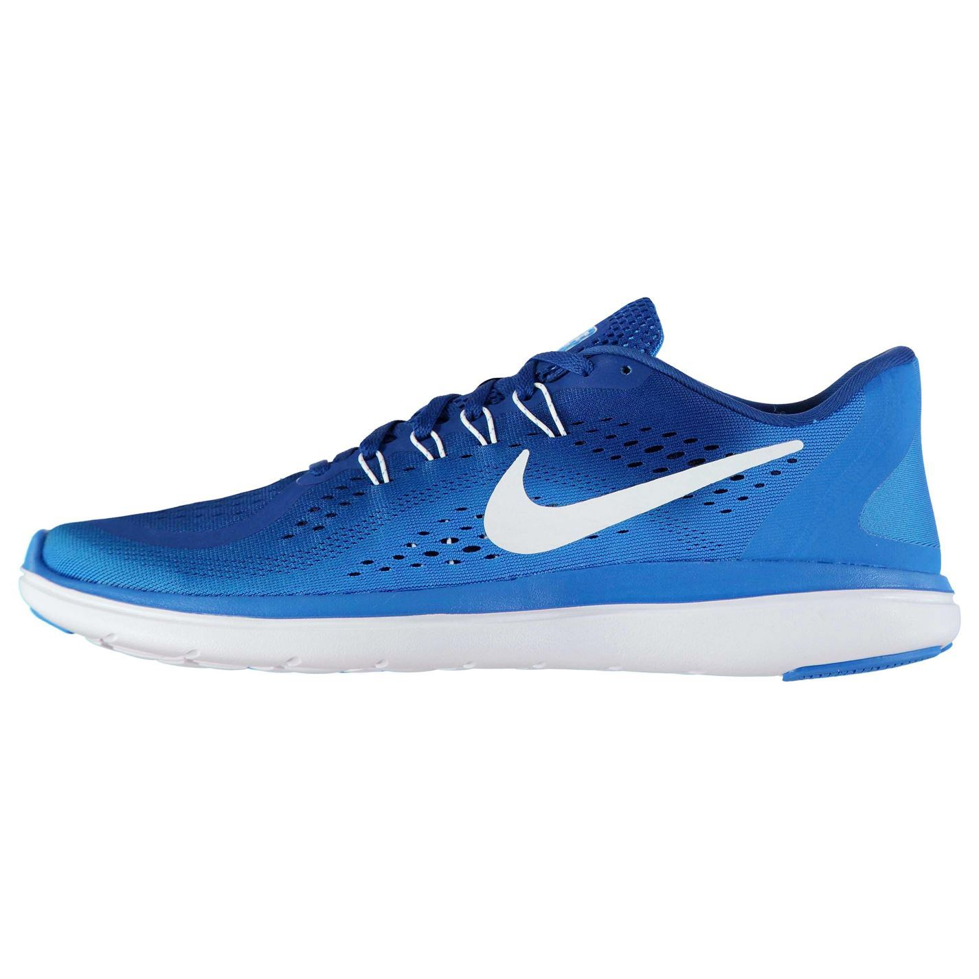 df02207f7f9a5 ... Nike Flex 2017 Run Running Shoes Mens Blue/White Jogging Trainers  Sneakers ...