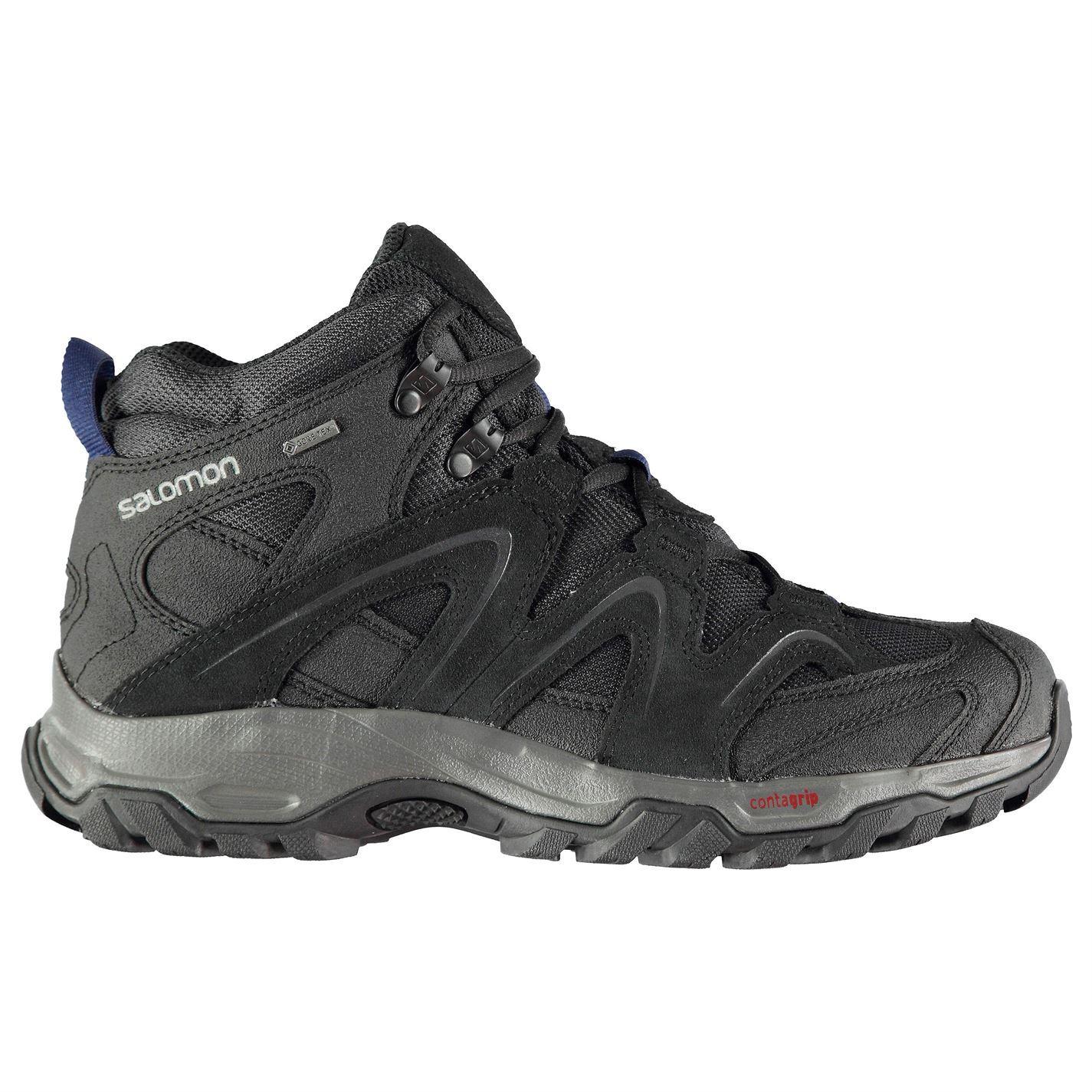 6f6119a833da5 Details about Salomon Vandon Gore-Tex Mid Walking Boots Mens Black Hiking  Trekking Shoes