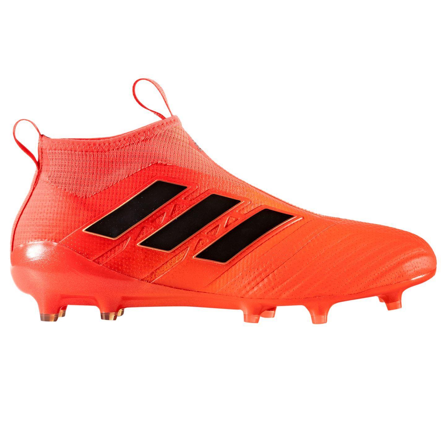 b88e30e2d27 adidas Ace 17 Purecontrol FG Laceless Football Boots Mens Orange Soccer  Cleats