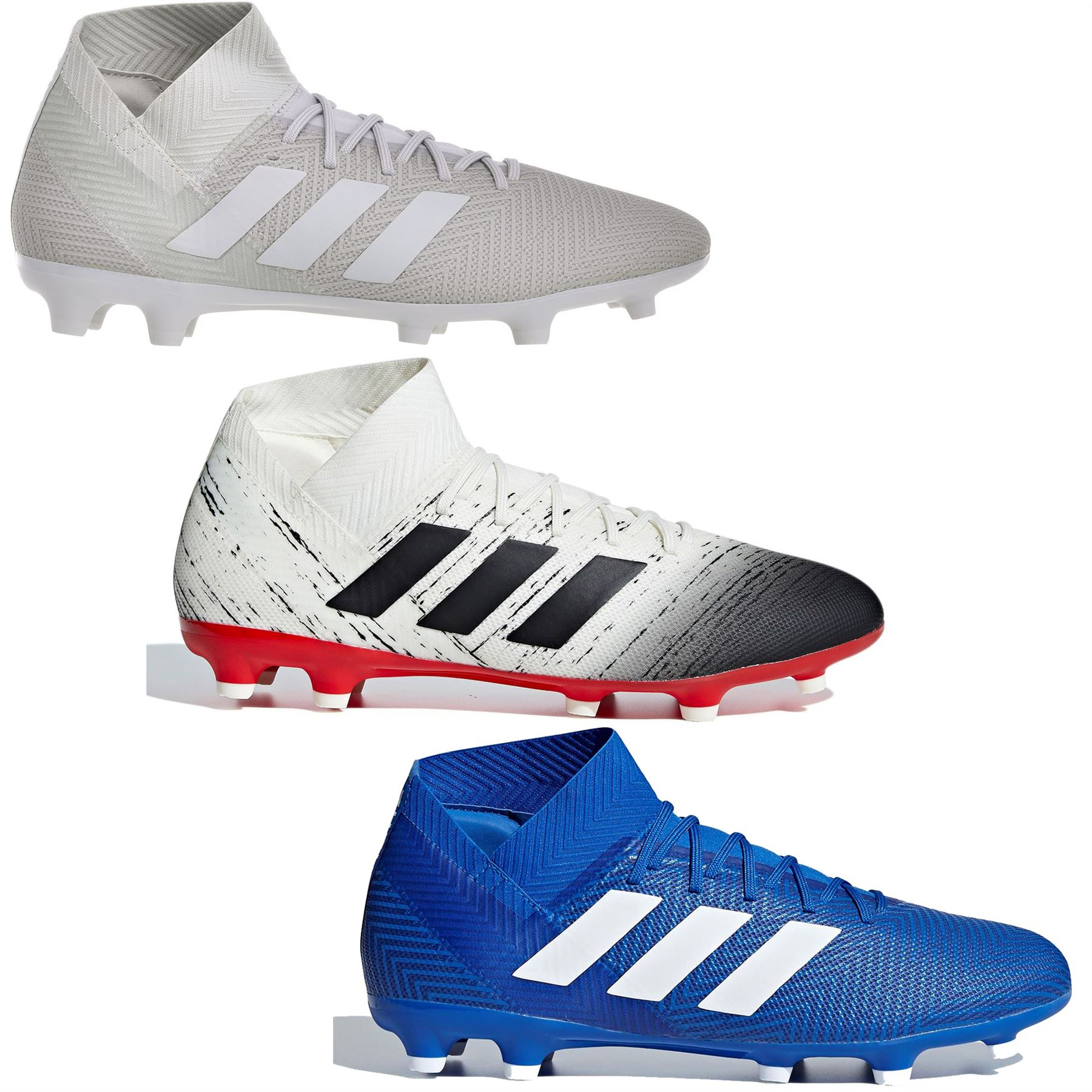 3ad9956ae adidas Nemeziz 18.3 FG Firm Ground Football Boots Mens Soccer Shoes Cleats
