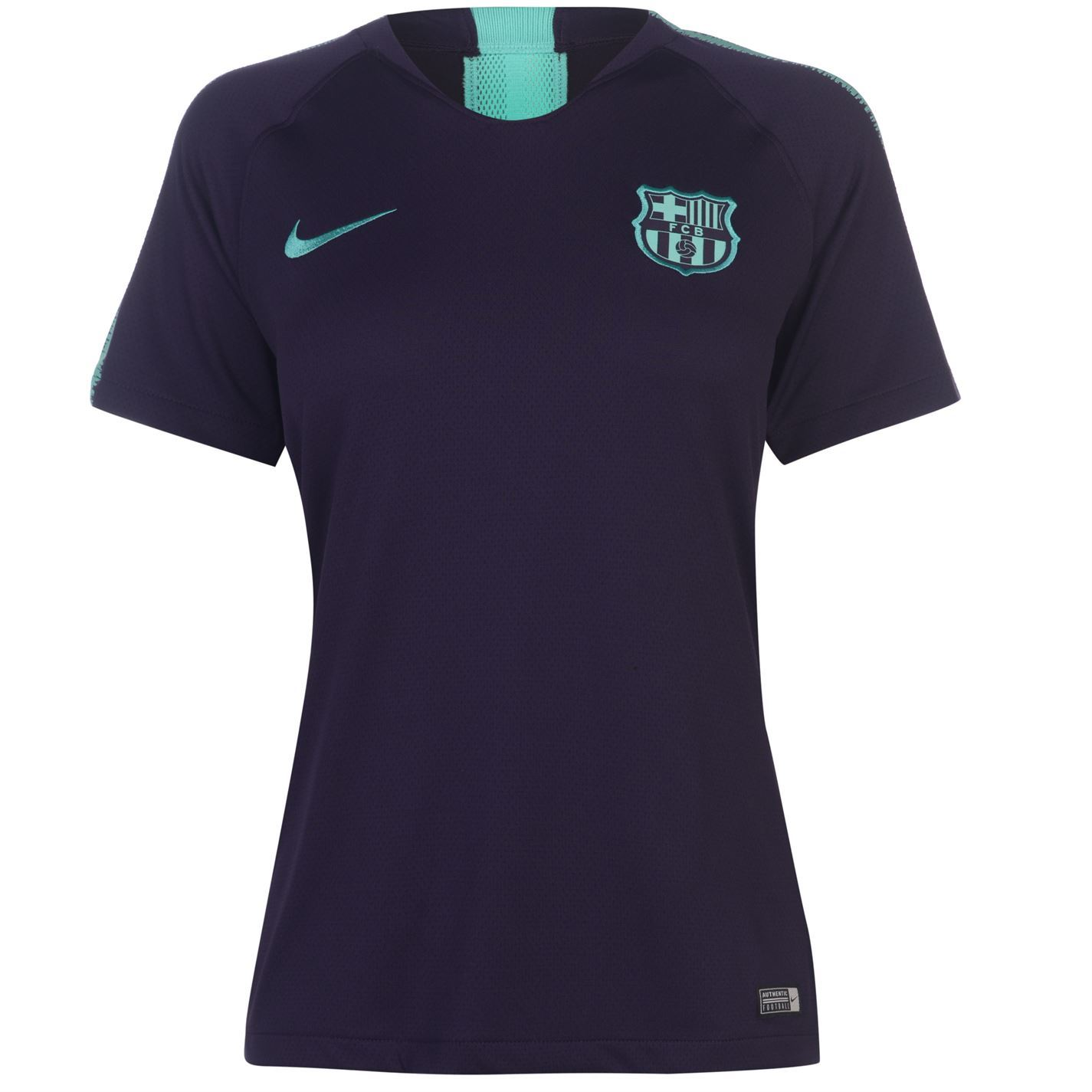 ... Nike Barcelona Squad T-Shirt Womens Purple Football Soccer Fan Top Tee  Shirt ... 0c6da6bc18