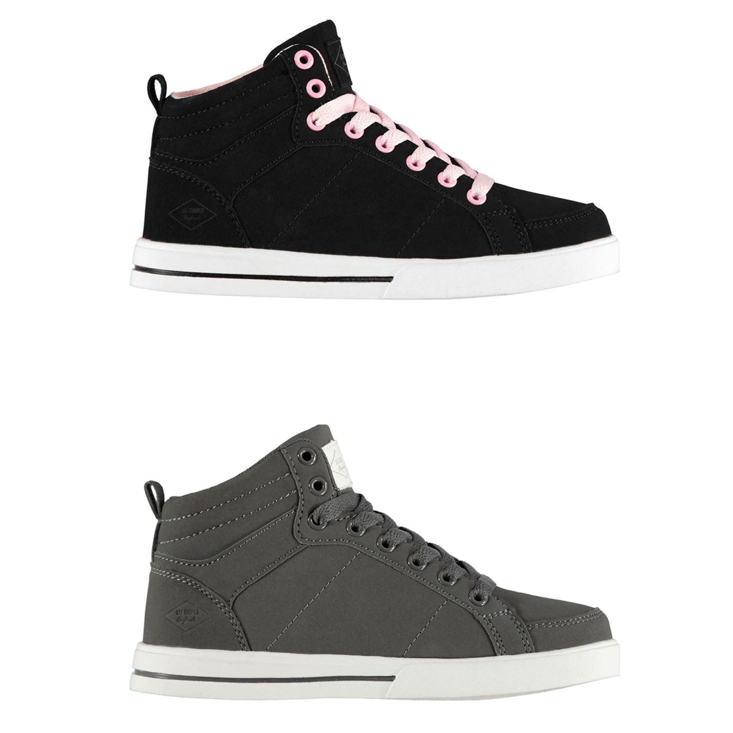 Détails sur Lee Cooper Akron Baskets Montantes Chaussures Fille Chaussures