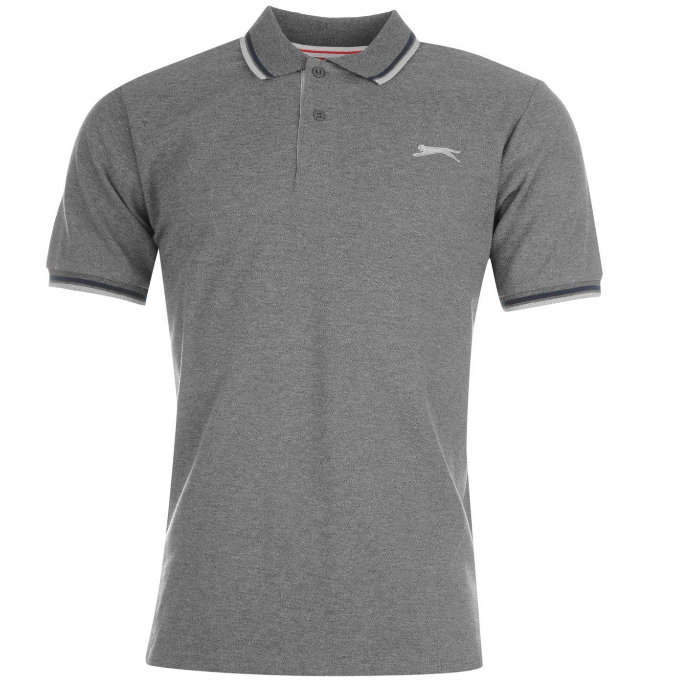 Slazenger-Polo-Camisa-de-hombre-con-cuello-con-Punta-T-Shirt-Top-Camiseta-Tee miniatura 29