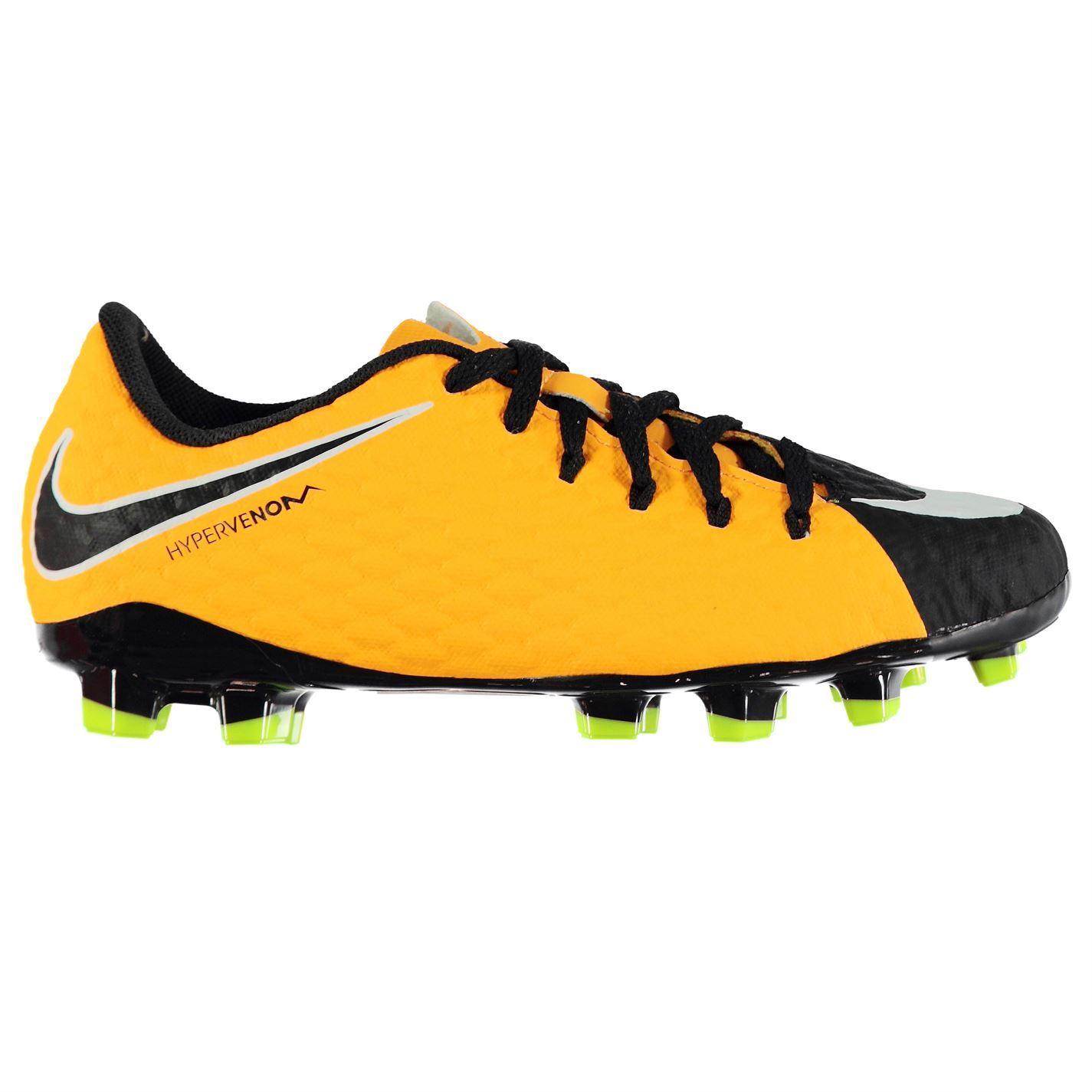 899d32a3392c ... Nike Hypervenom Phelon 3 Firm Ground Football Boots Juniors Orange  Soccer Cleats ...