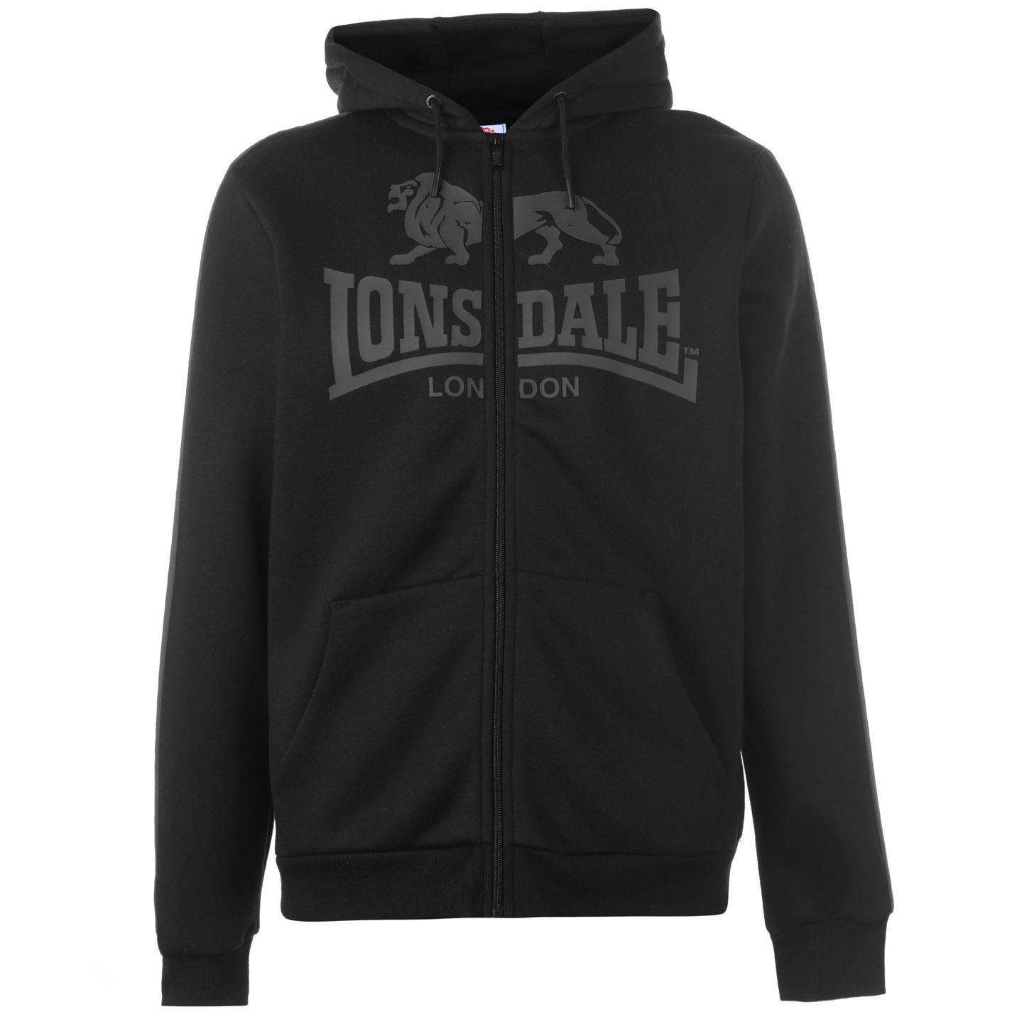 Lonsdale-2-Stripe-Logo-Full-Zip-Hoody-Mens-Hoodie-Top-Sweatshirt-Sweater thumbnail 5