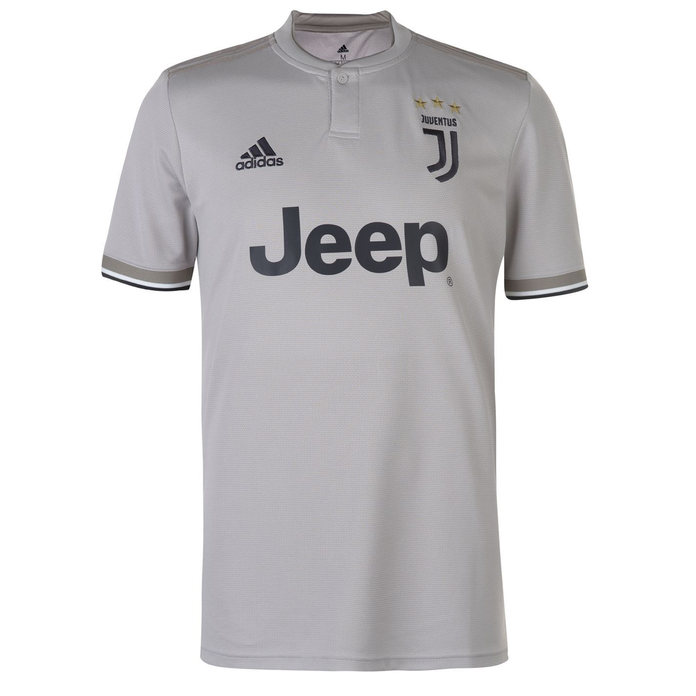 f5490eb97 ... adidas Juventus Away Jersey 2018 2019 Mens Grey Football Soccer Fan  Shirt Top ...