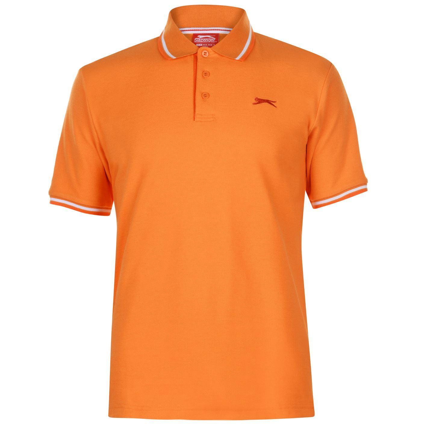 Slazenger-Polo-Camisa-de-hombre-con-cuello-con-Punta-T-Shirt-Top-Camiseta-Tee miniatura 76