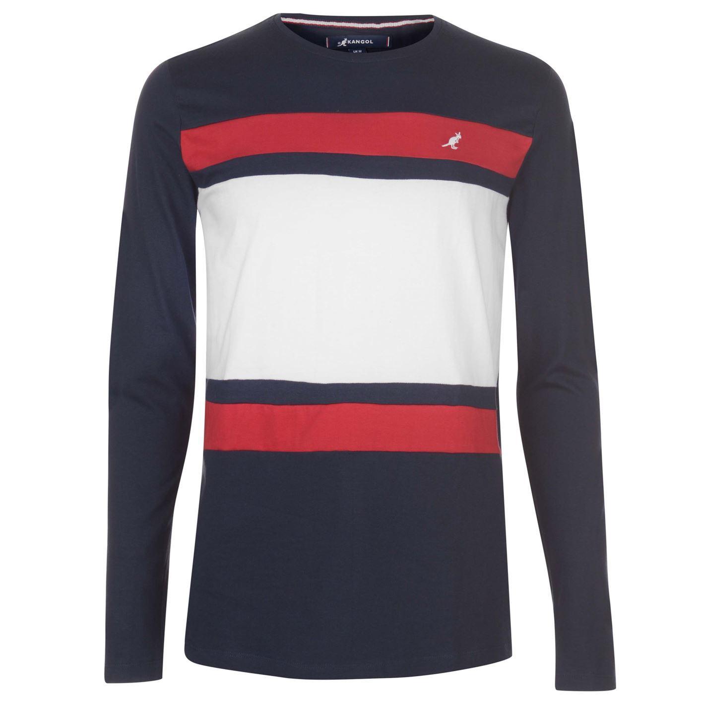 Kangol-Long-Sleeve-T-Shirt-Mens-Tee-Shirt-Top thumbnail 11