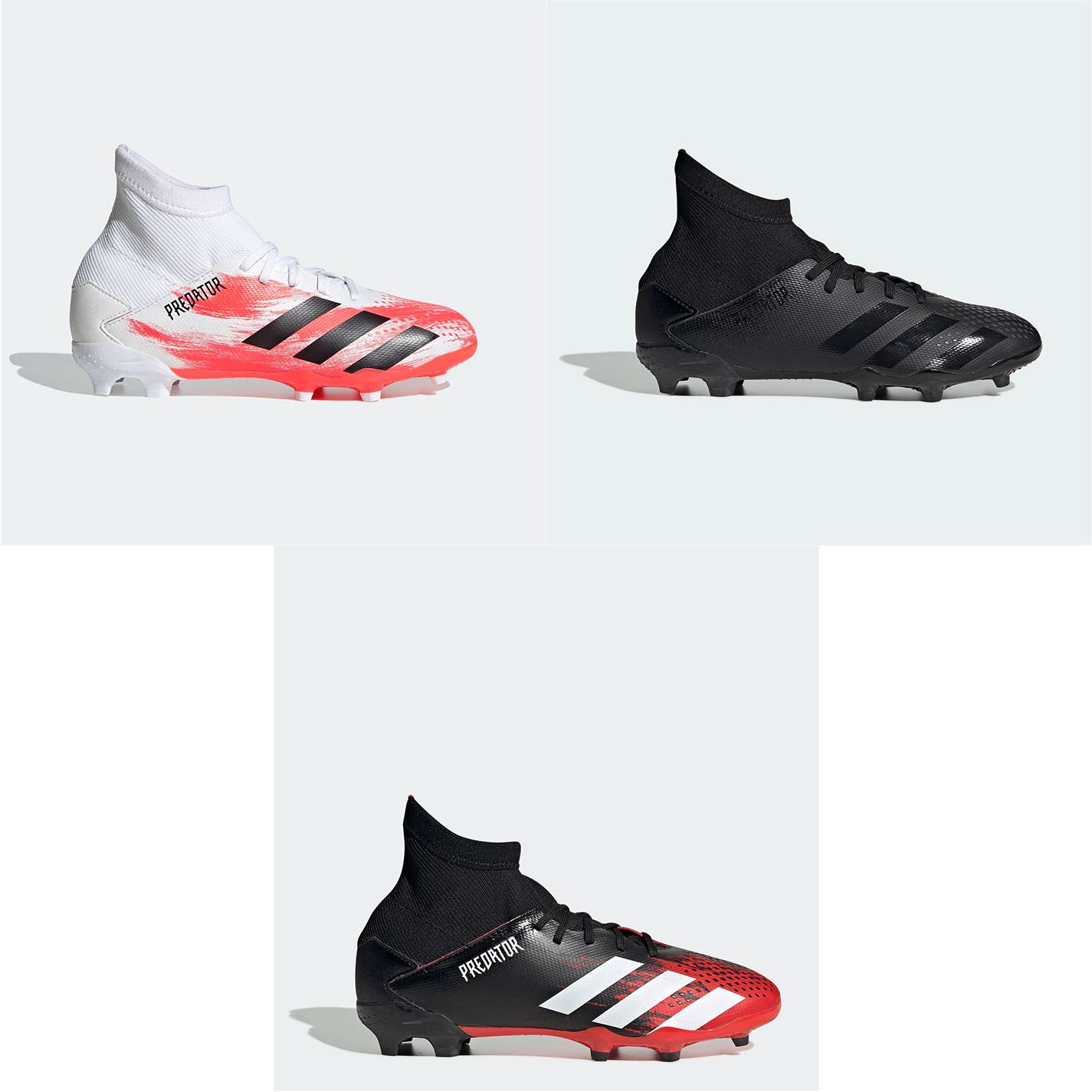 adidas Unisex Predator 19.3 Laceless Junior FG Football Boots Soccer Shoes