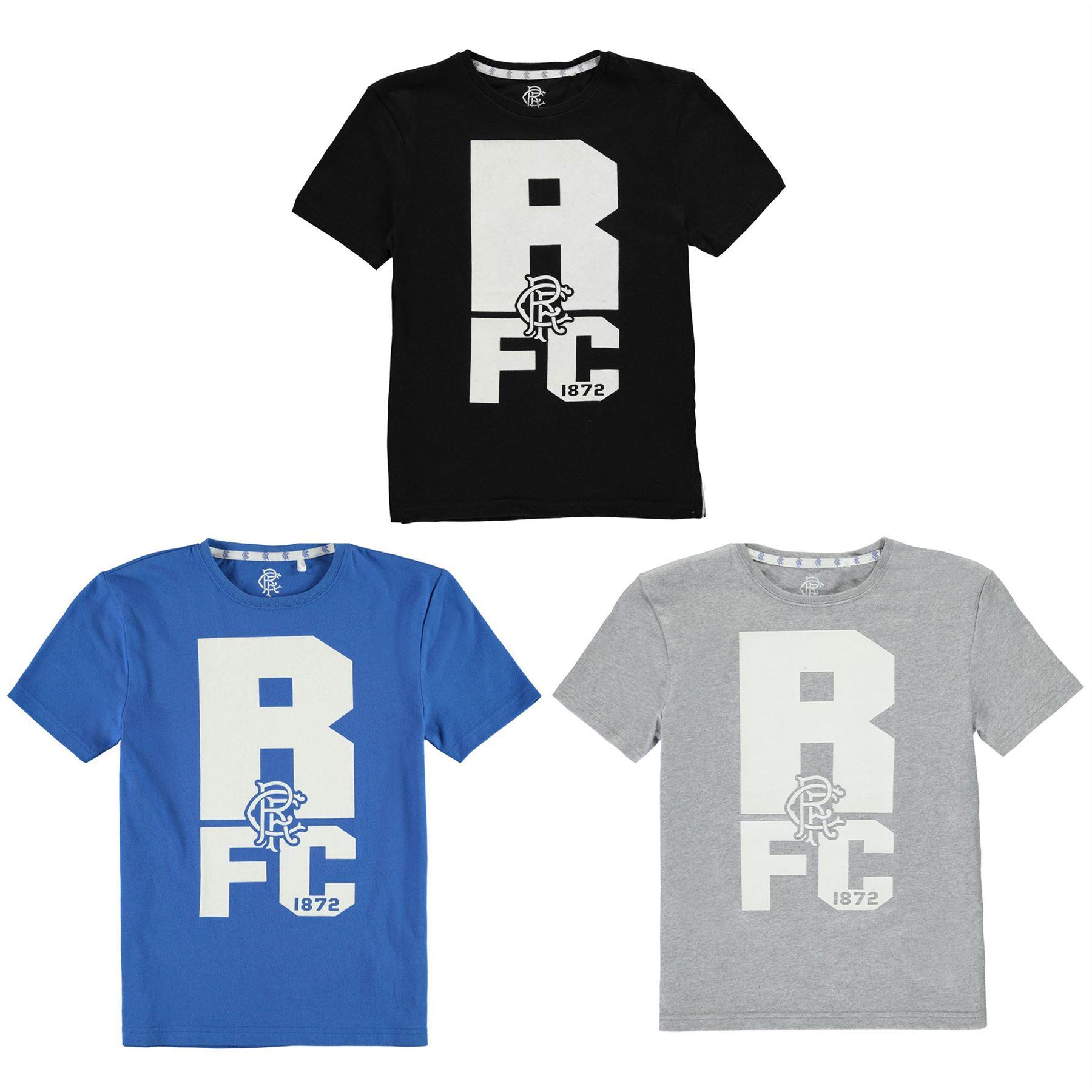 Glasgow Rangers FC  T-Shirt  Boys  Top Tee Shirt Football Soccer Age 13