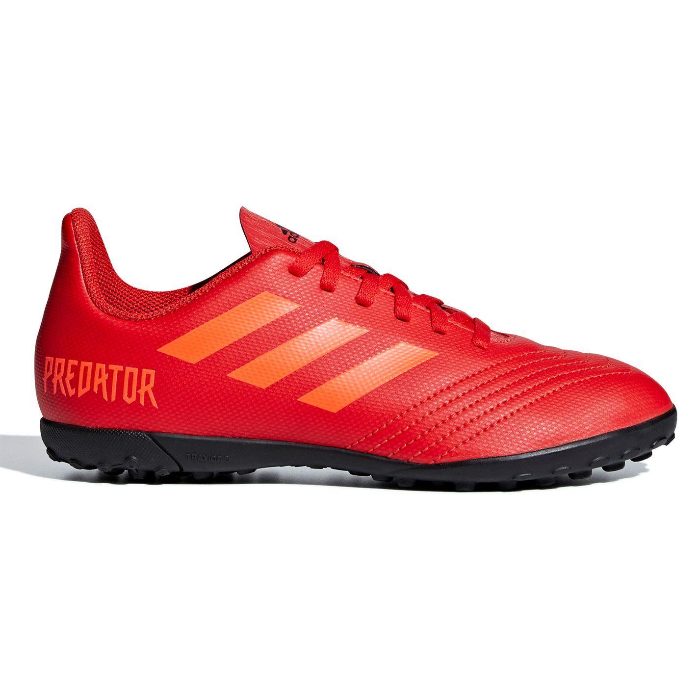 2a33107b1 ... adidas Predator 19.4 Astro Turf Football Trainers Juniors Red Soccer  Shoes ...