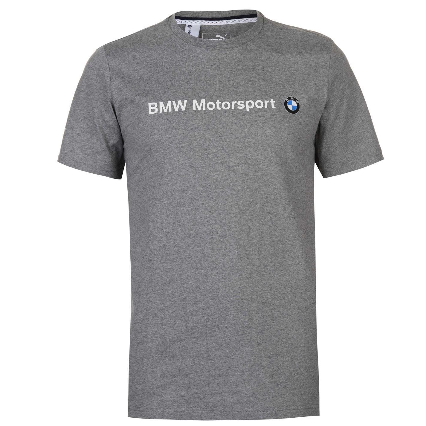 961cb0218243 Puma BMW Motorsport T-Shirt Mens Grey Tee Shirt Tshirt Top