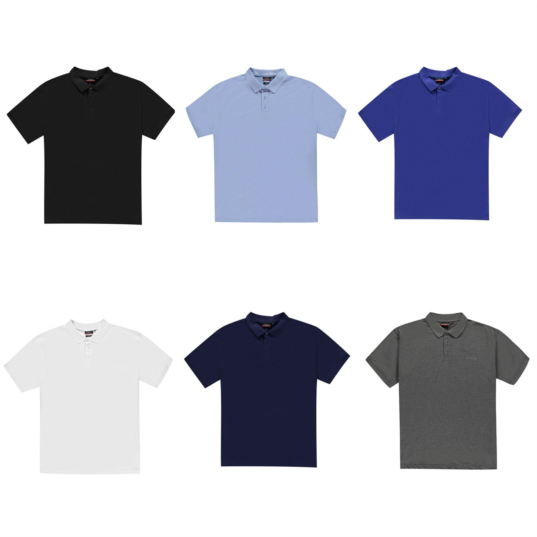 Dettagli su Pierre Cardin Maglietta Polo Semplice XL Uomo Maglietta Casual T Shirt