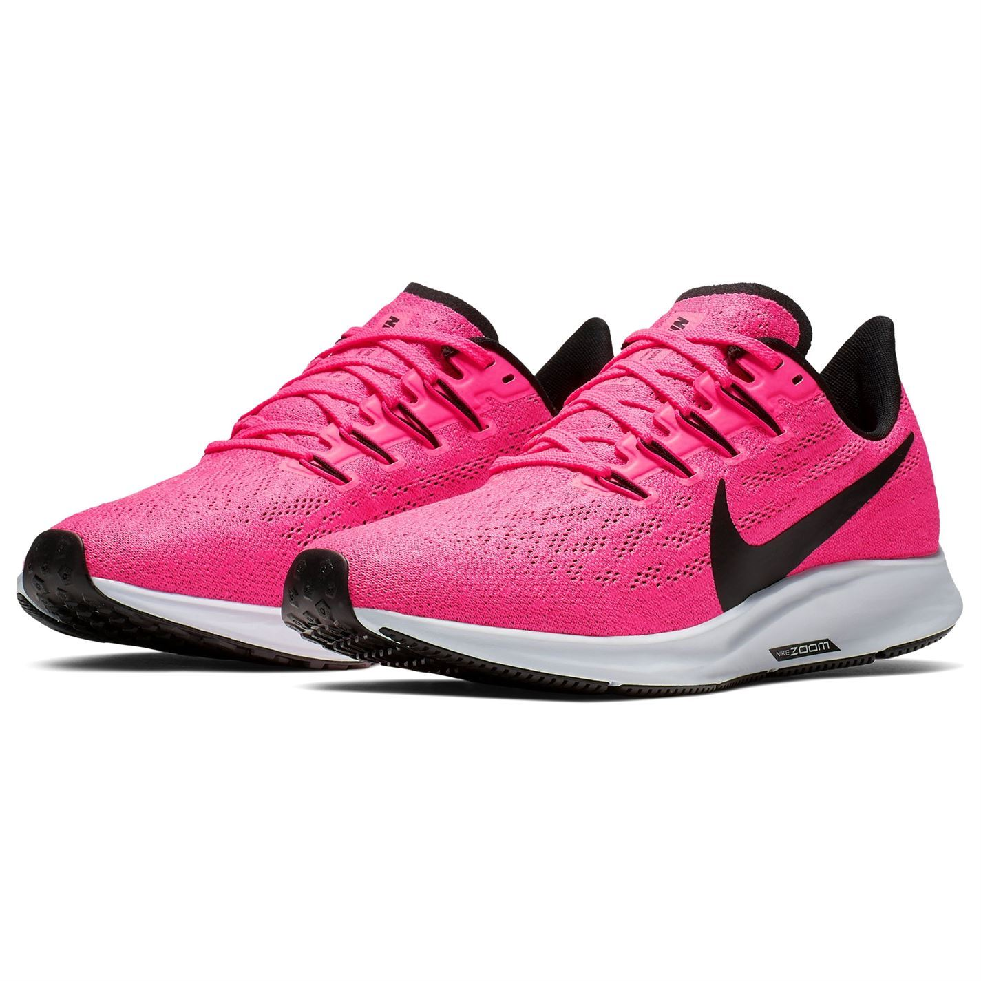 promo code 2a598 857bf Details about Nike Air Zoom Pegasus 36 Womens Running Shoes Trainers  Pink/Black Athleisure