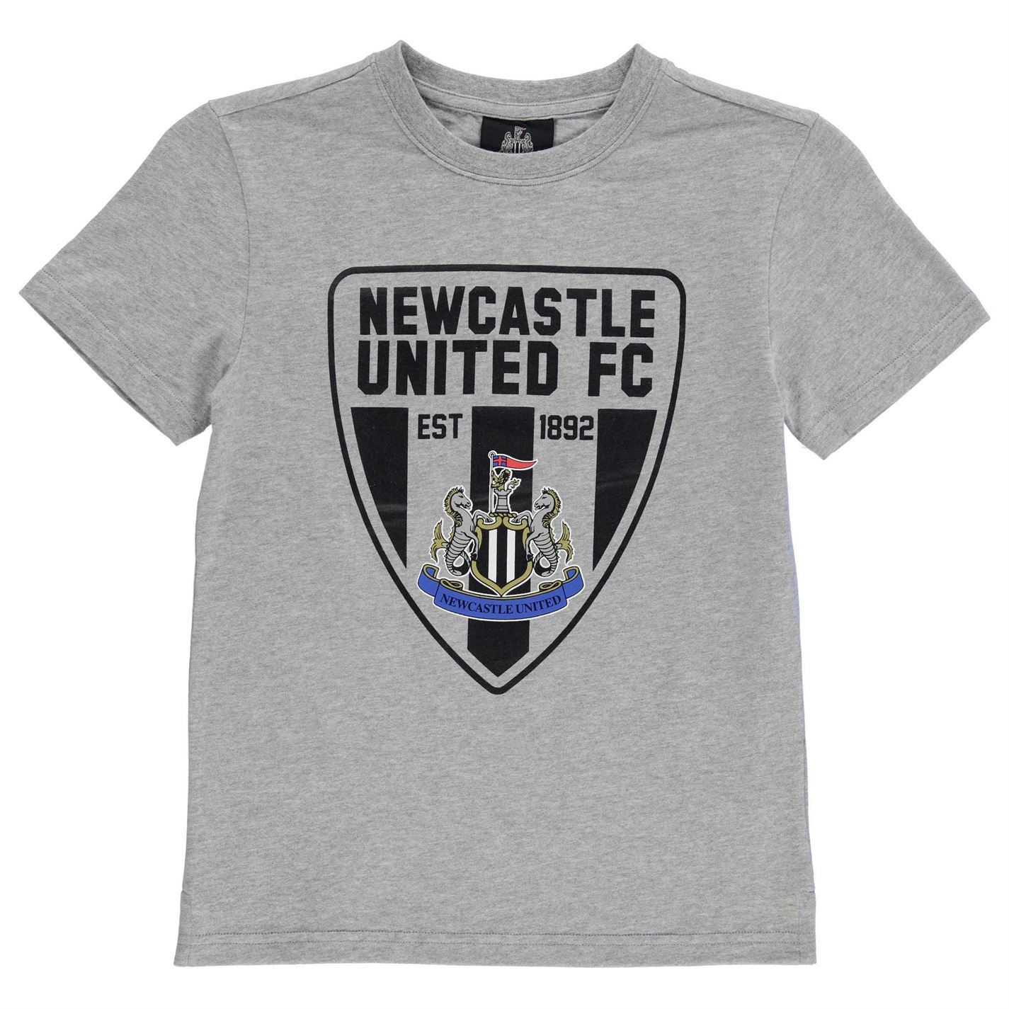 14a151a1497b Newcastle United Graphic T-Shirt Juniors Grey Football Soccer Fan Top Tee  Shirt