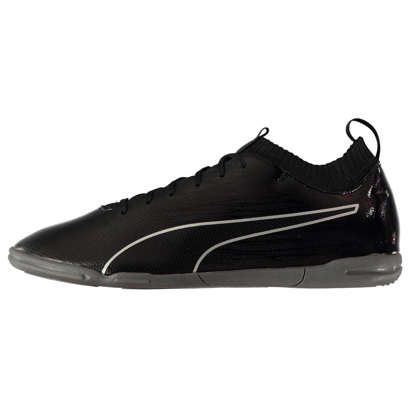 bb40bf4d5 ... Puma evoKNIT Indoor Football Trainers Mens Black Soccer Futsal Shoes  Sneakers ...