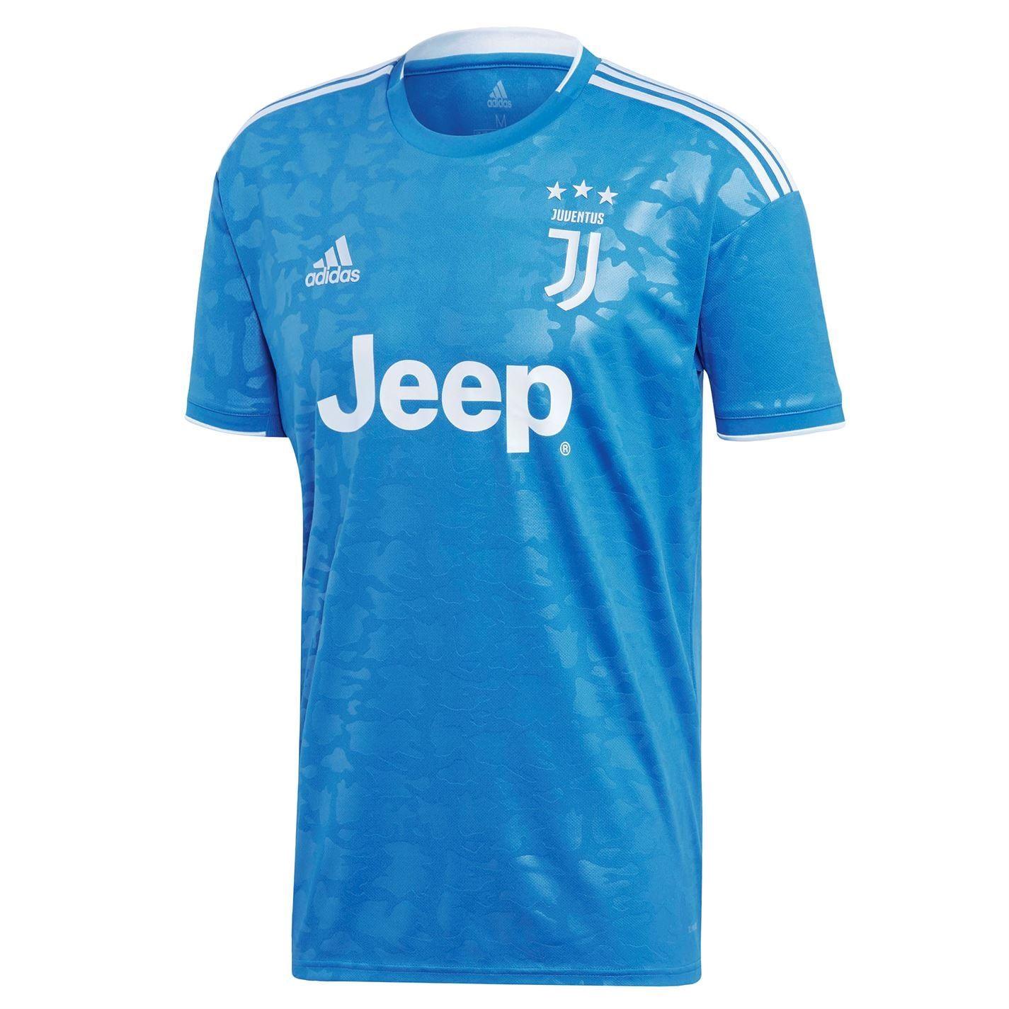 Detalles de Adidas Juventus Tercera Camisa 2019 2020 Hombres Azul Fútbol Camiseta