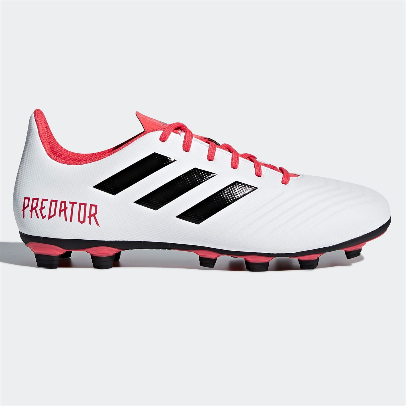 ca6f761c1 ... adidas Predator 18.4 Firm Ground Football Boots Mens White Red Soccer  Cleats ...