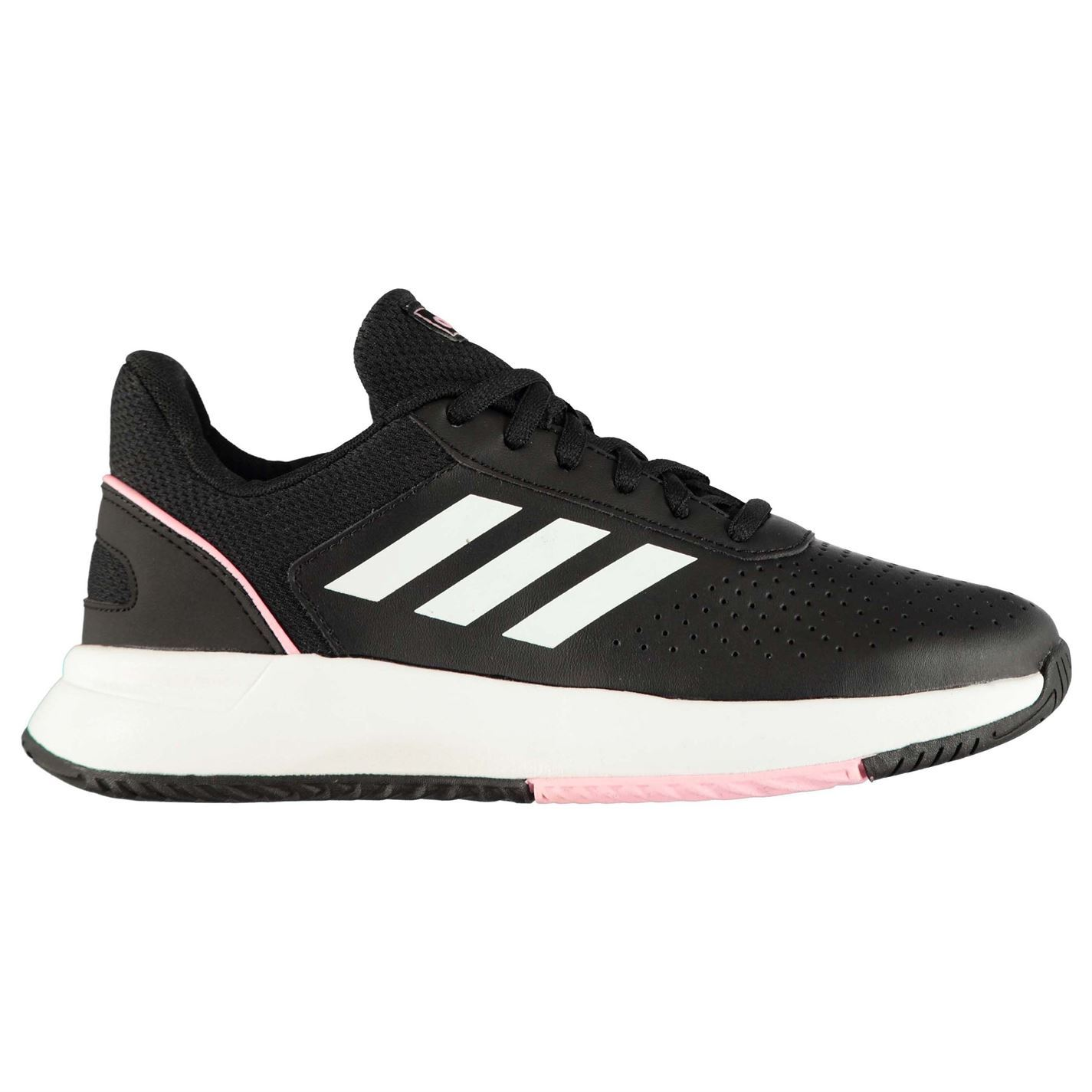 Details about adidas Courtsmash Tennis Shoes Womens BlackWhite Trainers Sneakers Footwear
