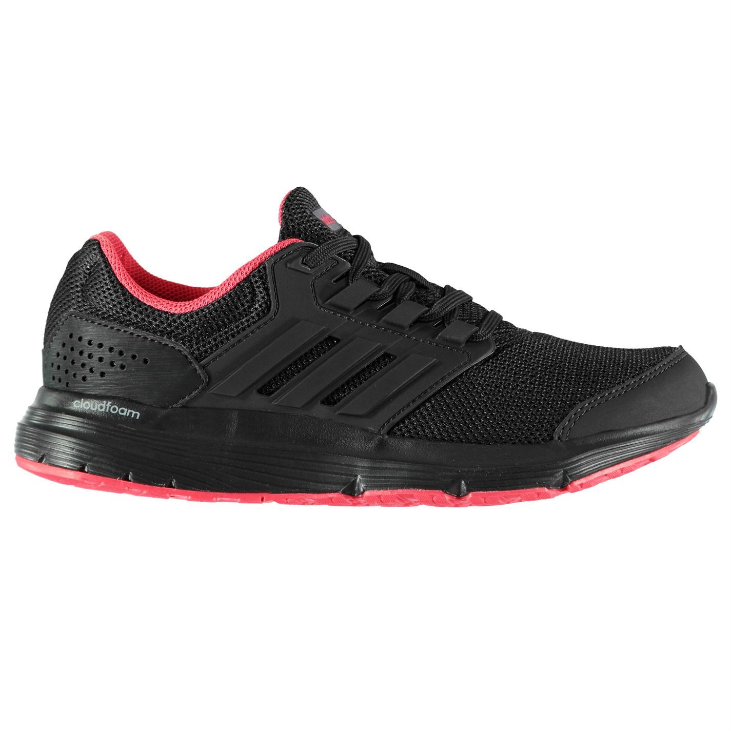 b835817e3168 adidas Galaxy 4 Running Shoes Womens Black Pink Run Jogging Trainers  Sneakers