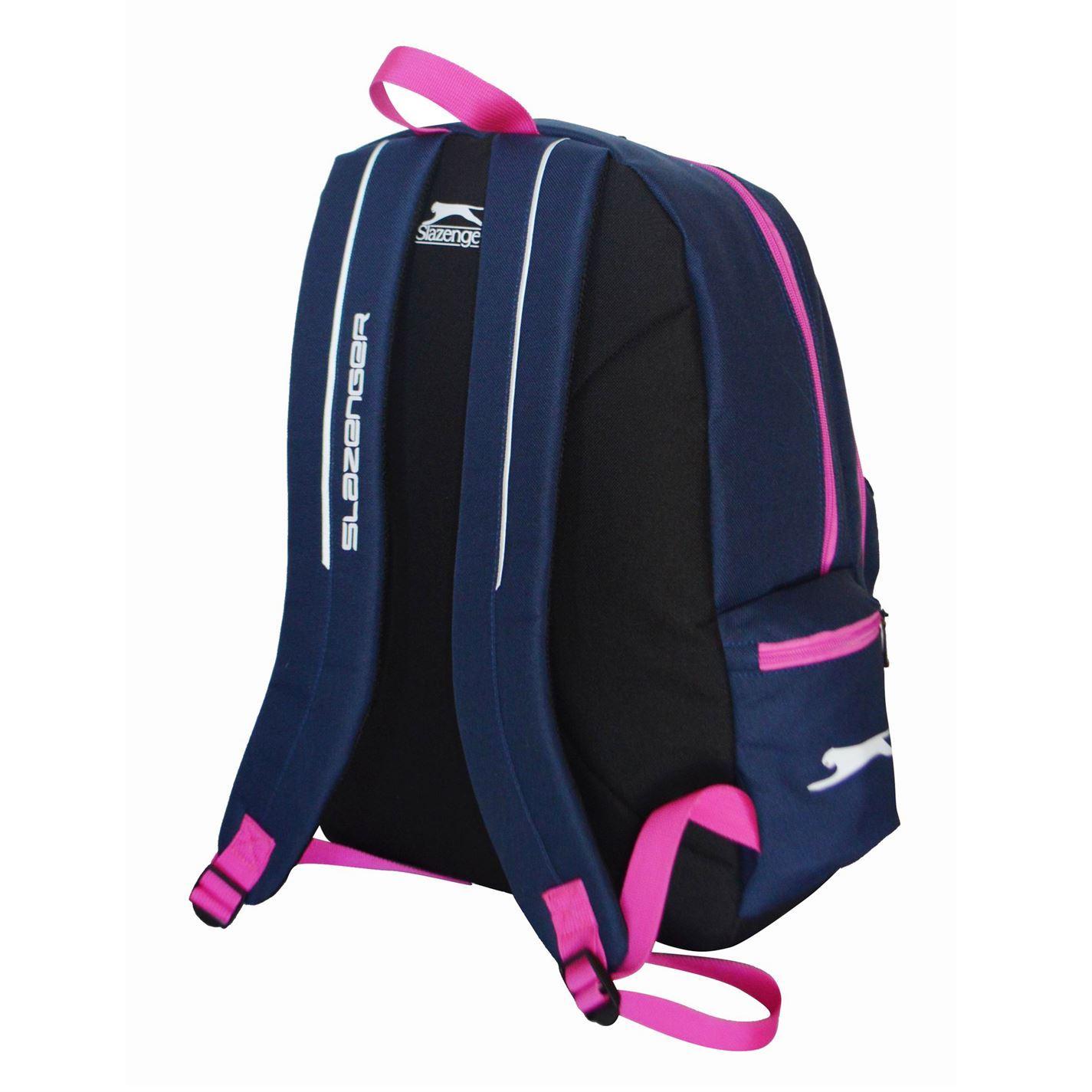 Slazenger Backpack Lunch Box Navy Pink Rucksack Sports Bag Gymbag Kitbag