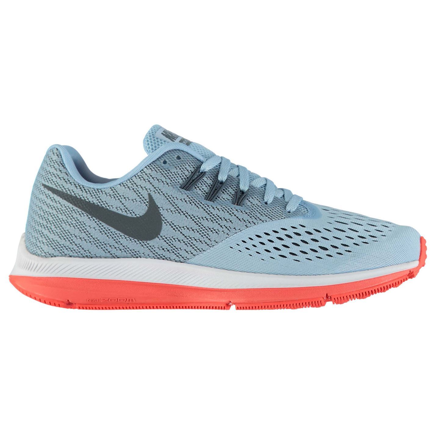 927f1ecd8f35 ... Nike Zoom Winflo 4 Running Shoes Mens Blue Grey Red Jogging Trainers  Sneakers ...