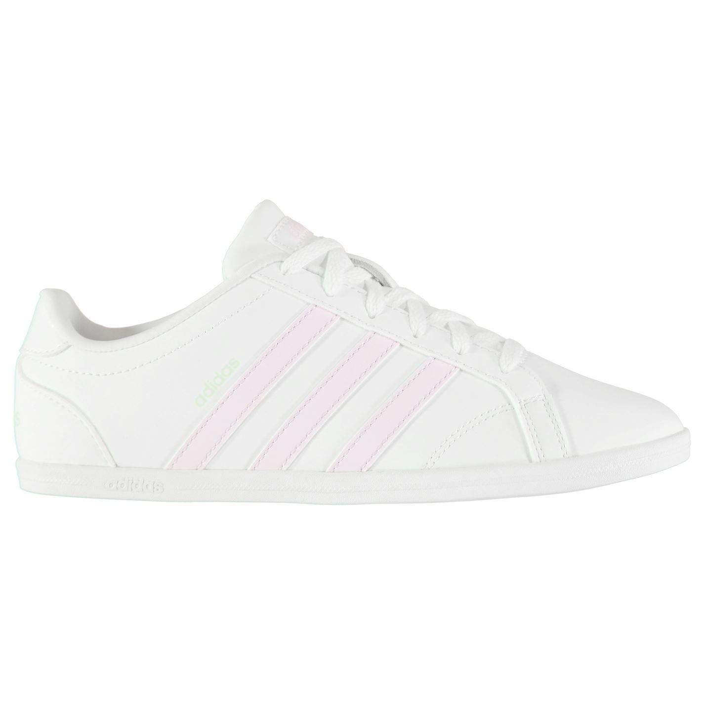 Details about adidas Coneo QT Trainers Womens WhitePink Sports Trainers Sneakers