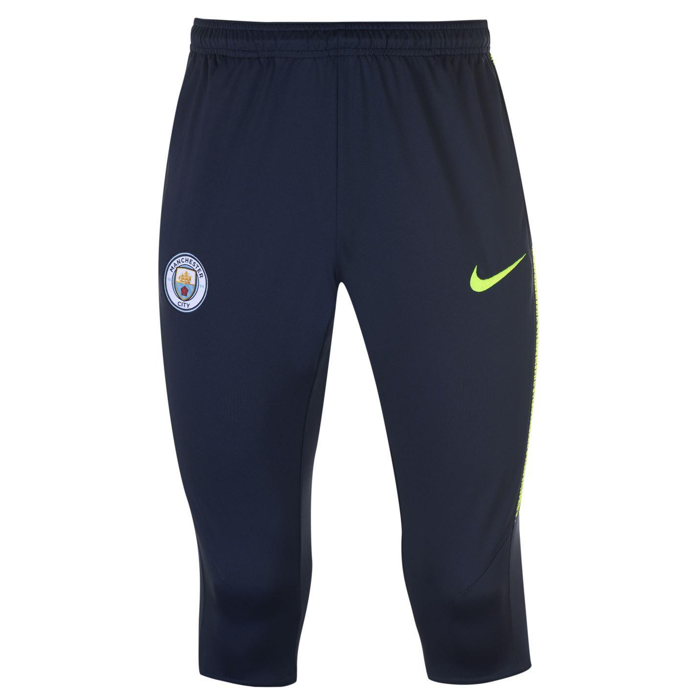 28d3b8df2f40 ... Nike Manchester City 3 4 Pants Mens Blue Football Soccer Track Sweat  Bottoms ...