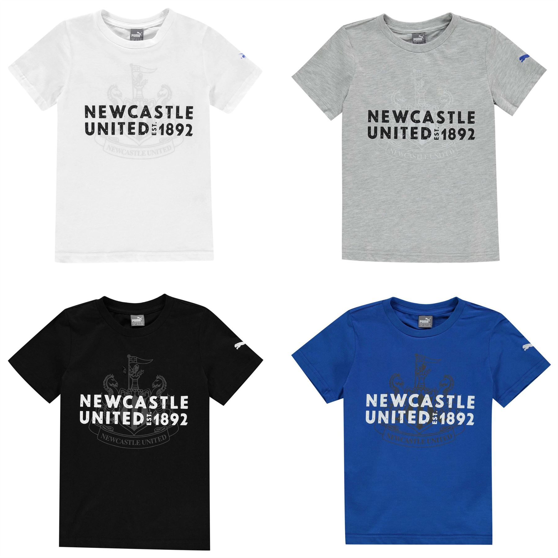 4640125e5657 ... Puma Newcastle United Graphic T-Shirt Juniors Football Soccer Fan Top Tee  Shirt ...
