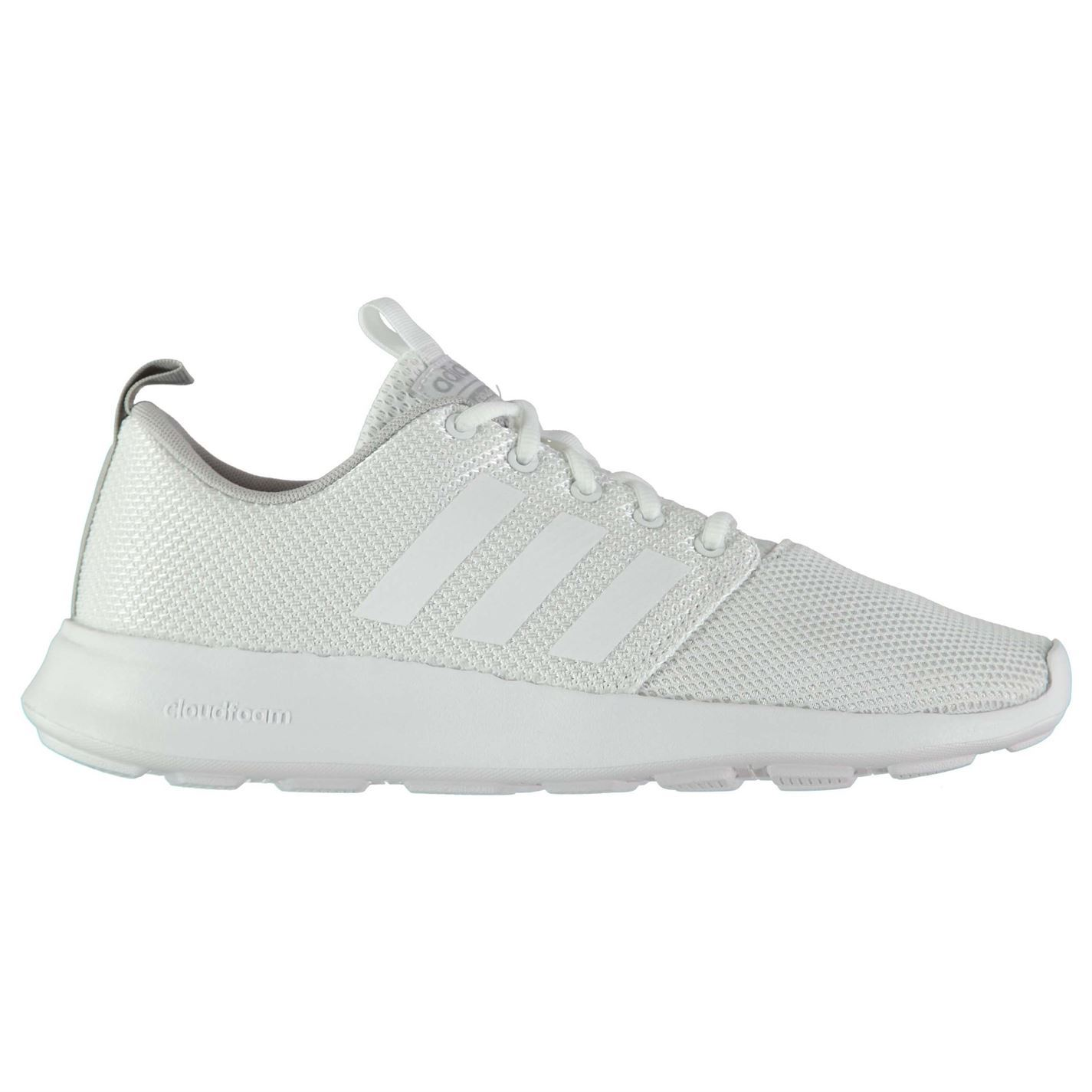 ... adidas Cloudfoam Swift Racer Trainers Mens White Athletic Sneakers  Shoes ... 4fa393c28