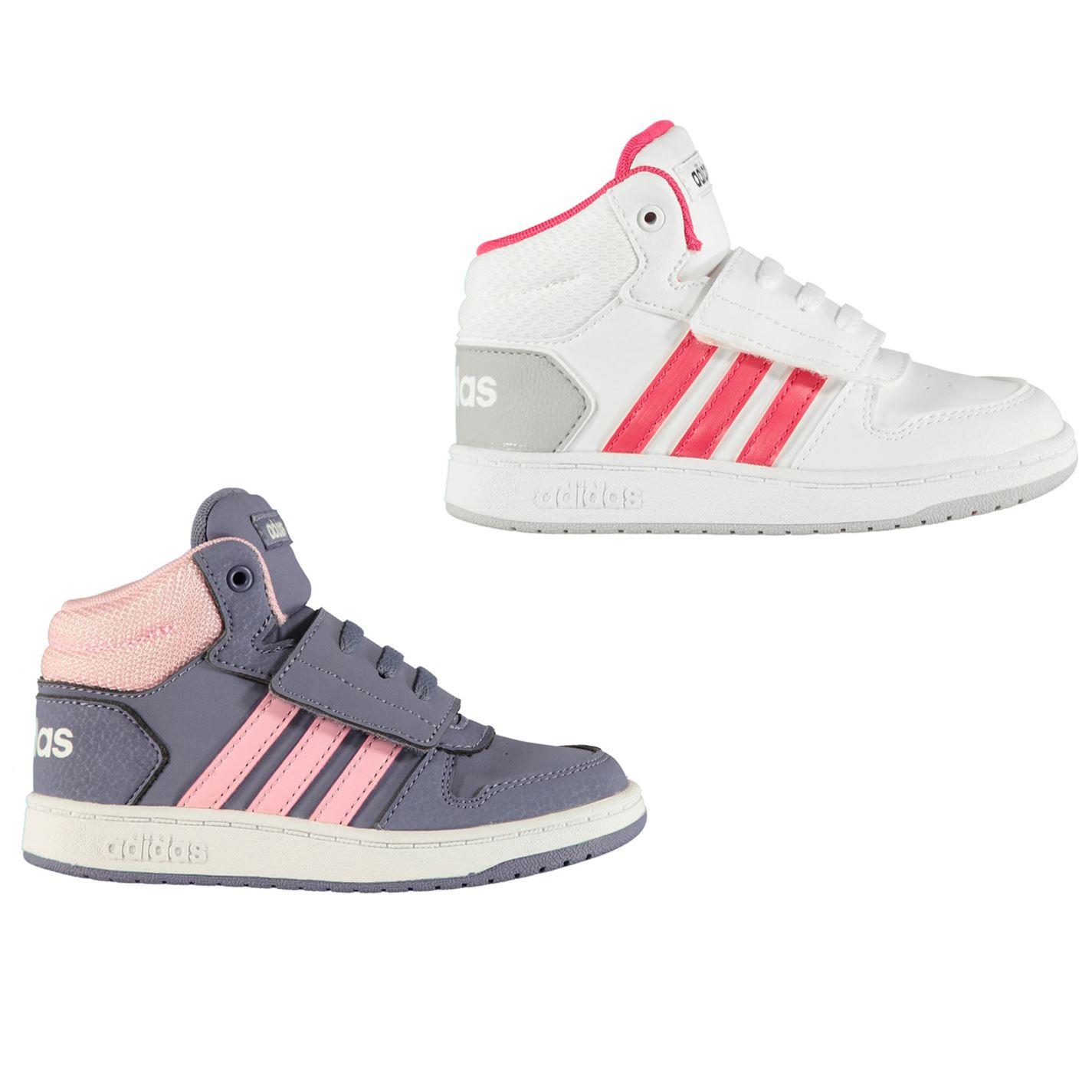 Dettagli su Adidas Stile Basket Medio da Ginnastica Bambini Ragazze Scarpe Sportive
