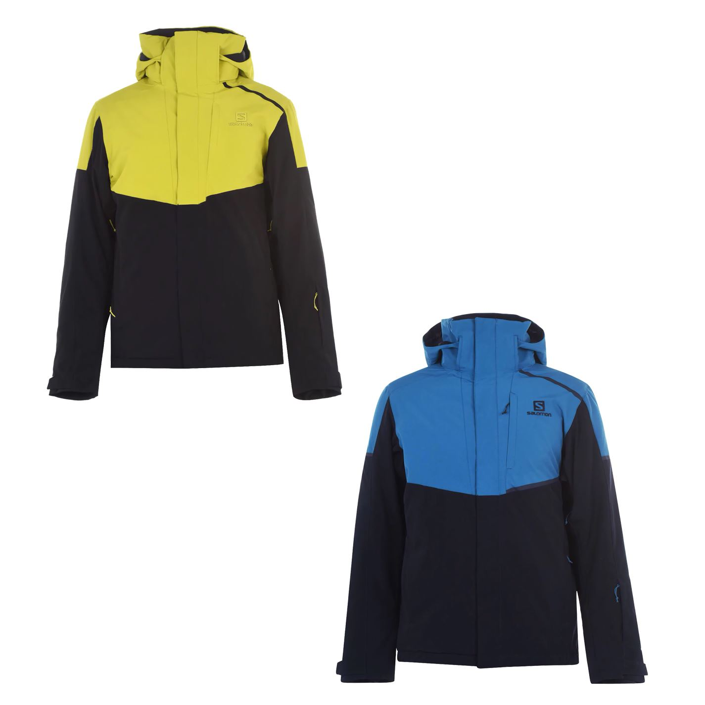 Details about Salomon Rise Jacket Mens Ski Snowboarding Hooded Skiing Top Snow Outerwear