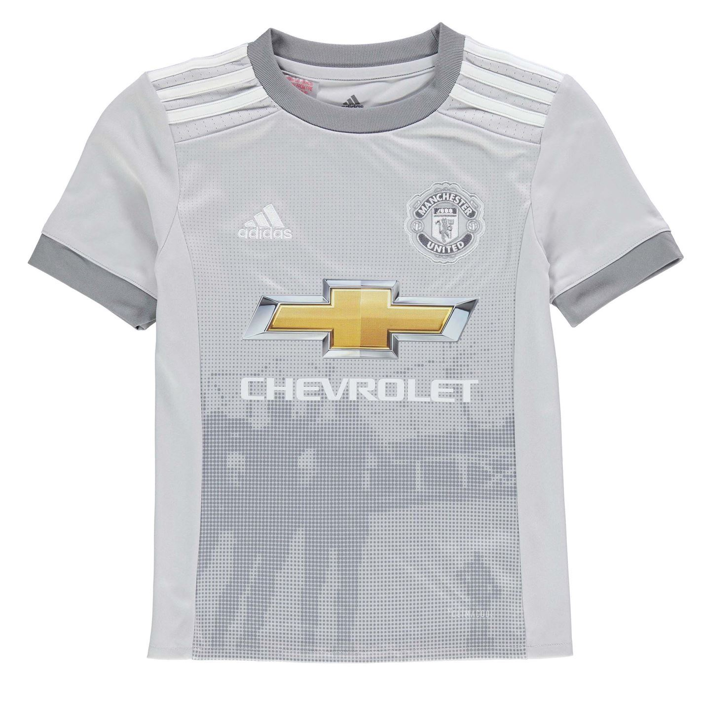 timeless design f1703 79219 Details about adidas Manchester United Third Jersey 2017 2018 Juniors Grey  Football Soccer Top