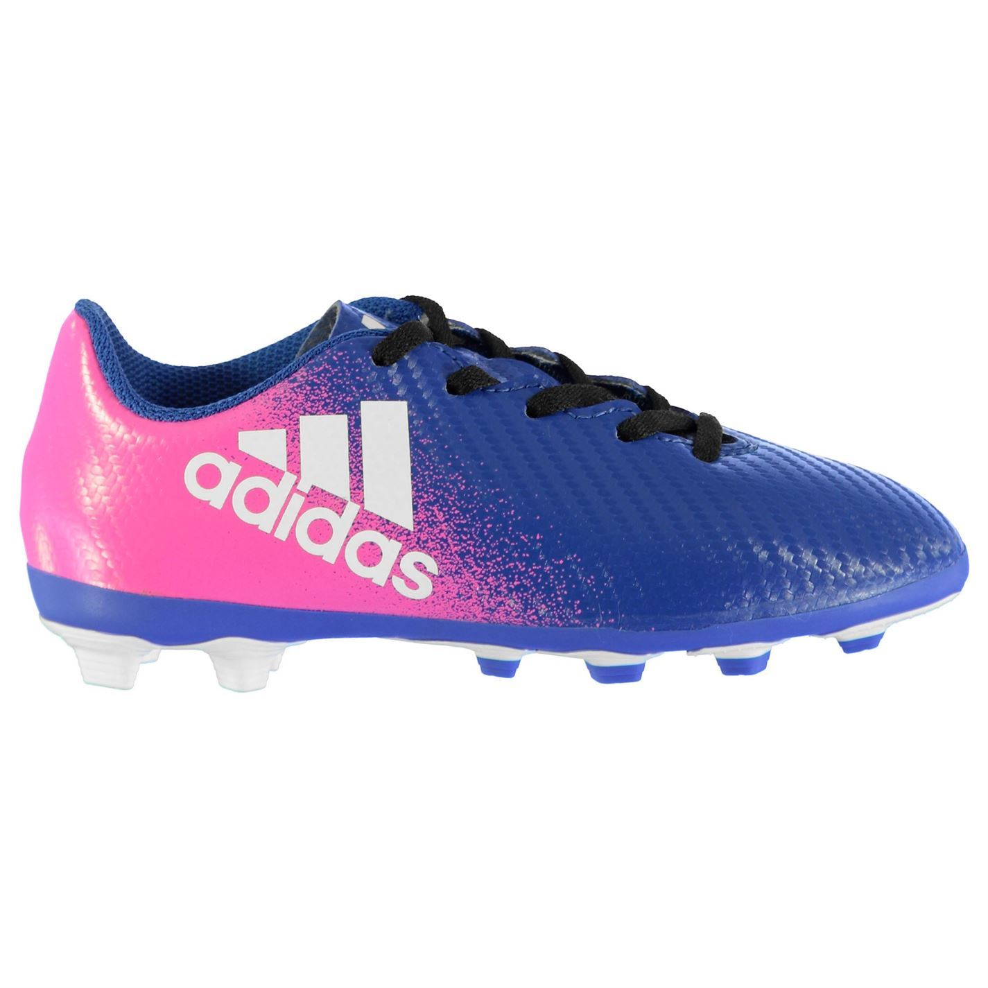 5c99c913159d ... adidas X 16.4 FG Firm Ground Football Boots Juniors Soccer Shoes  Blue/White/Pink ...