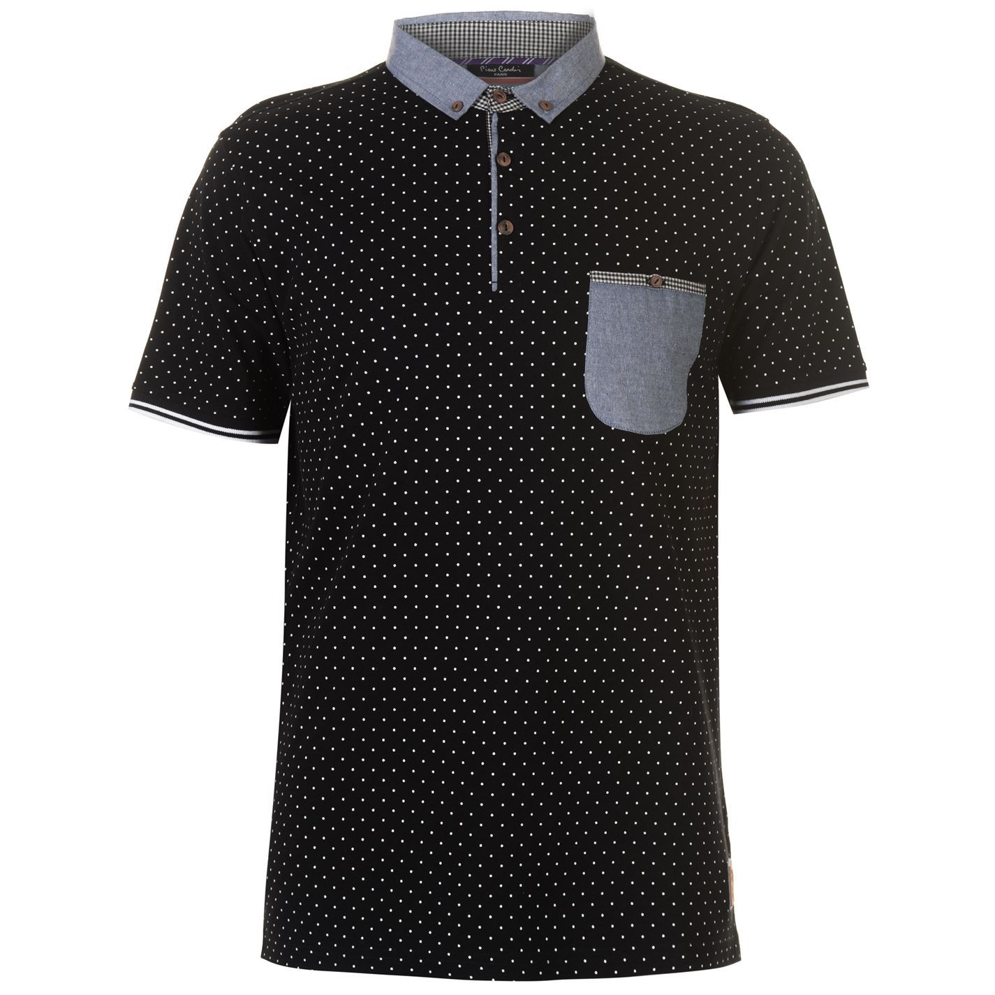 Pierre-Cardin-AOP-Contrast-Pocket-Polo-Shirt-Mens-Top-Tee-Casual-T-Shirt