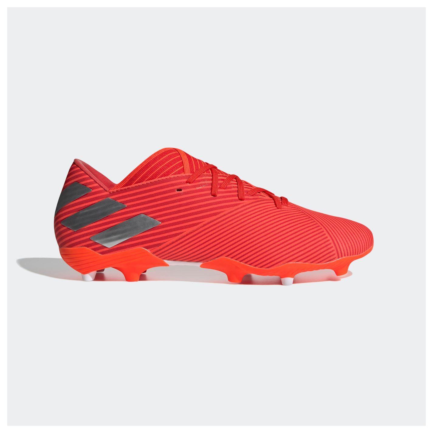 Adidas-nemeziz-19-2-Firm-Ground-FG-Chaussures-De-Football-Hommes-Soccer-Crampons-Chaussures miniature 11