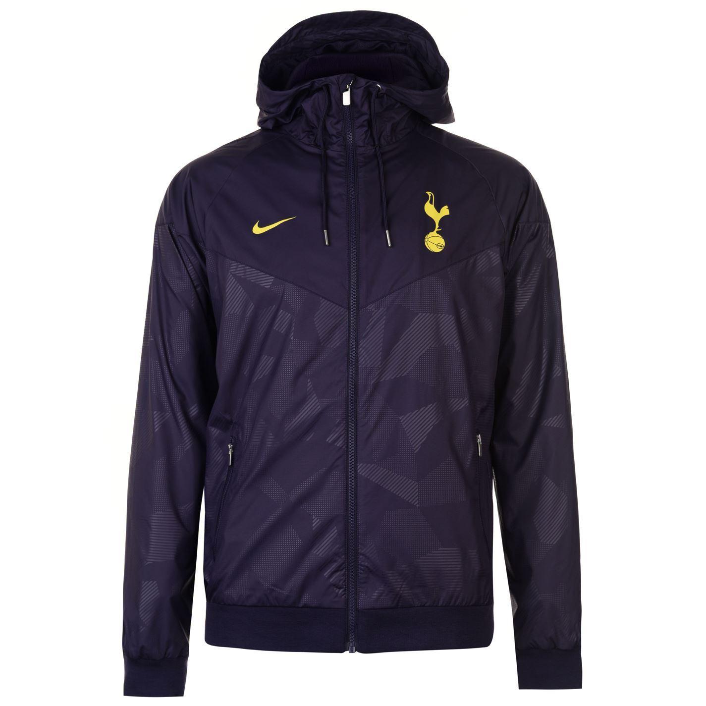 7d7f28c584 ... Nike Tottenham Hotspur Wind Runner Jacket Mens Purple Yellow Football  Soccer Top ...