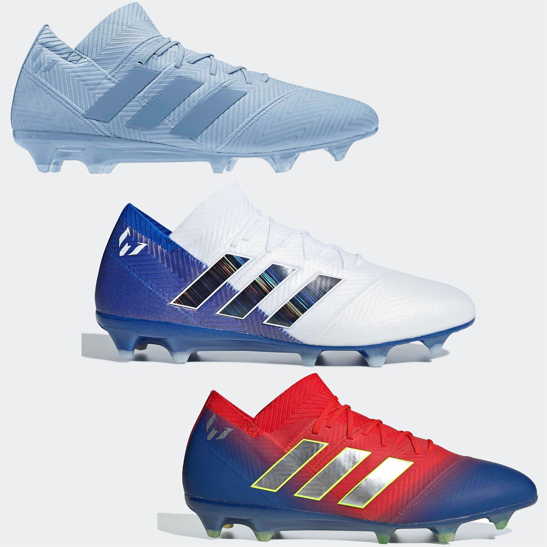 8c839994 ... adidas Nemeziz Messi 18.1 FG Firm Ground Football Boots Mens Soccer  Shoes Cleats ...