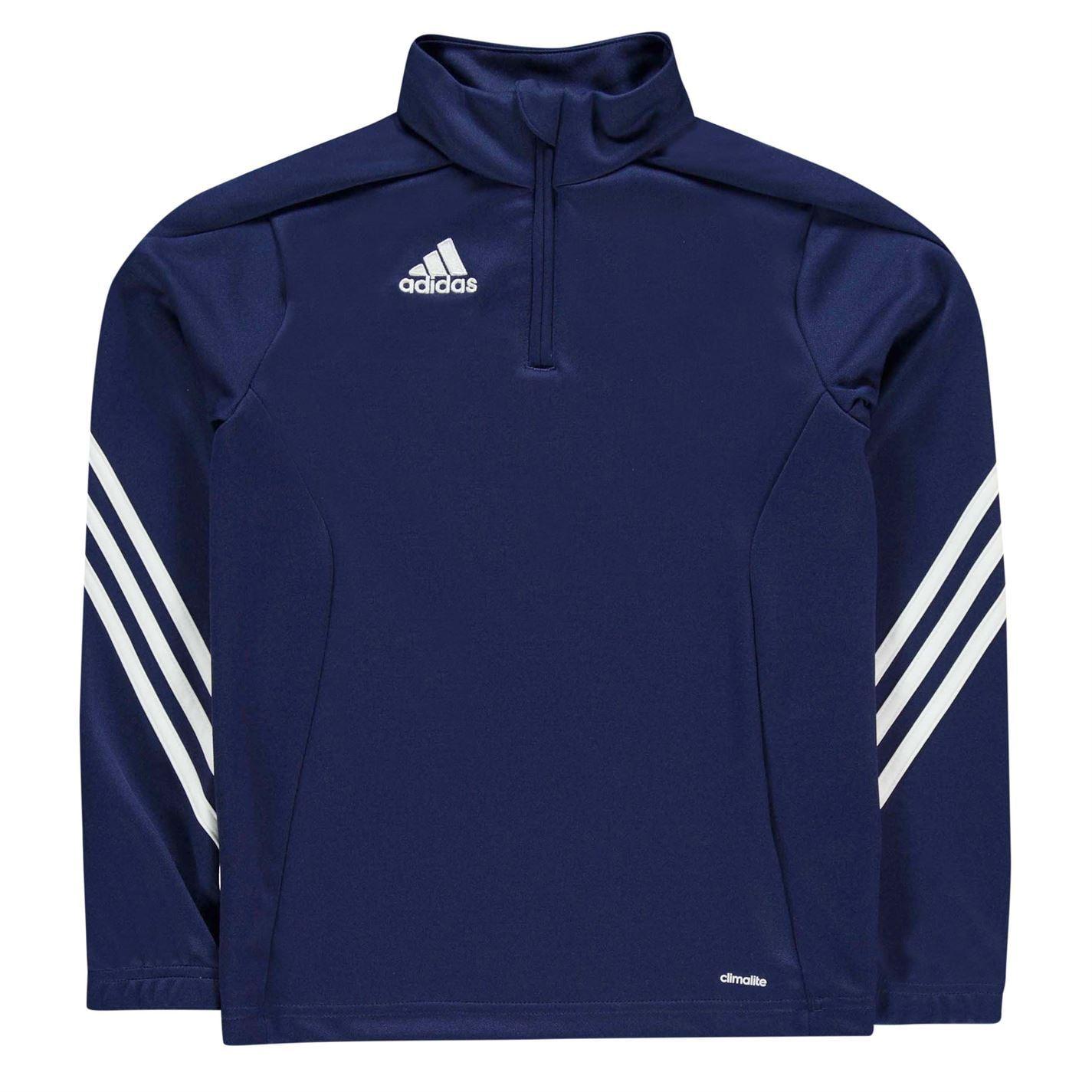 Détails sur Adidas Sereno 14 Fermeture Survêtement Haut Juniors MarineBlanc Football de