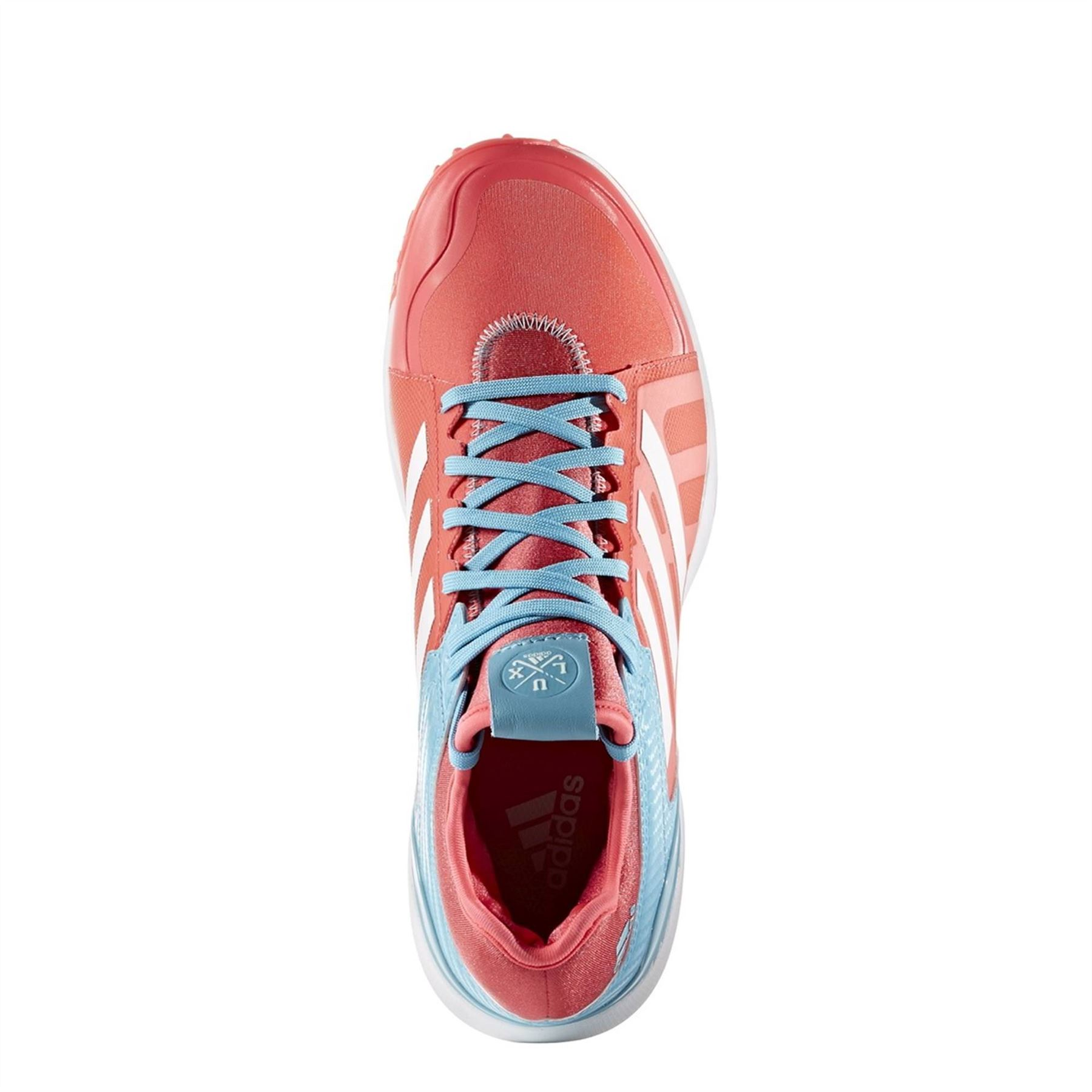 new concept 1ca36 11dab ... adidas Hockey Lux Field Hockey Shoes Womens Red Astro Turf Trainers  Sneakers ...
