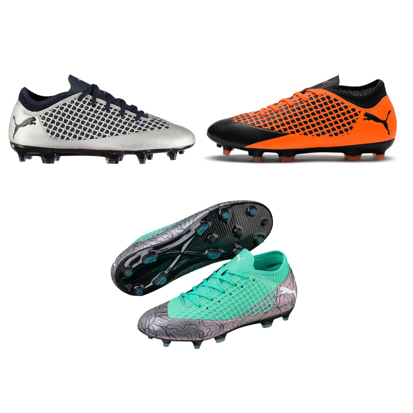 ... Puma Future 2.4 FG Firm Ground Football Boots Childs Soccer Shoes Cleats  ... c2e135c24