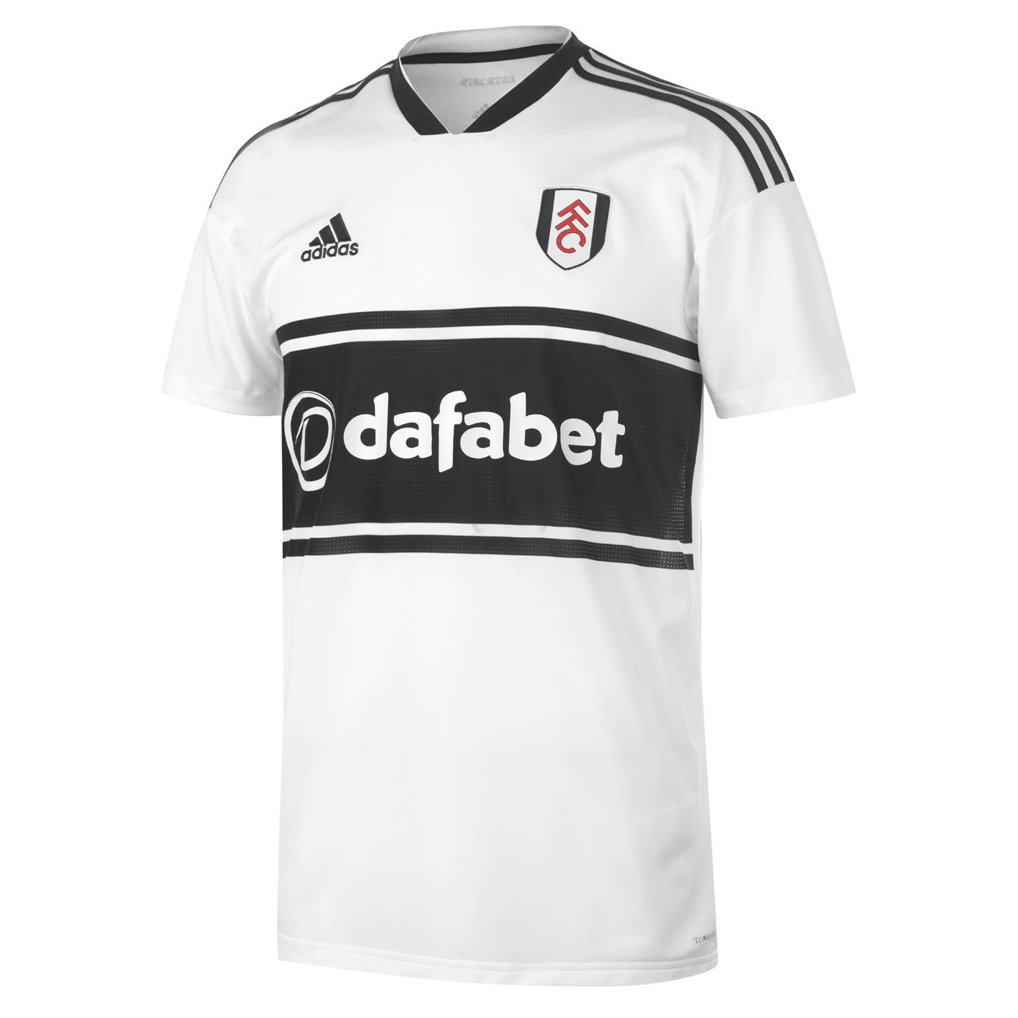 dd2a3139213 ... adidas Fulham Home Jersey 2018 2019 Mens White Football Soccer Fan Shirt  Top ...