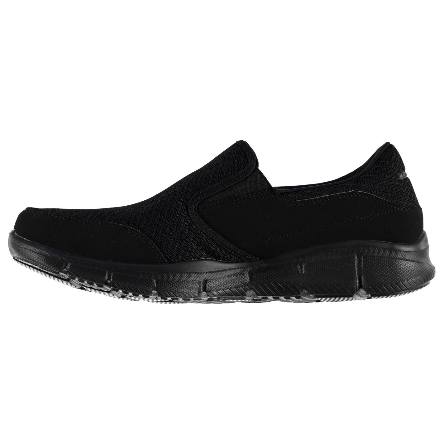 ... Skechers Equalizer Persistent Trainers Mens Black Sports Shoes Sneakers  Footwear ea9fb6a366